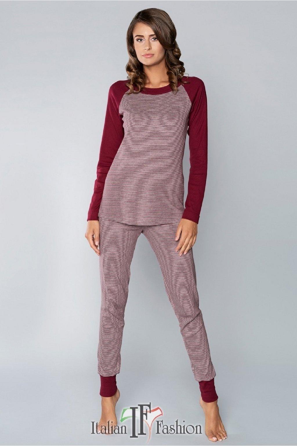 Dámské pyžamo Italian Fashion Sana bordo