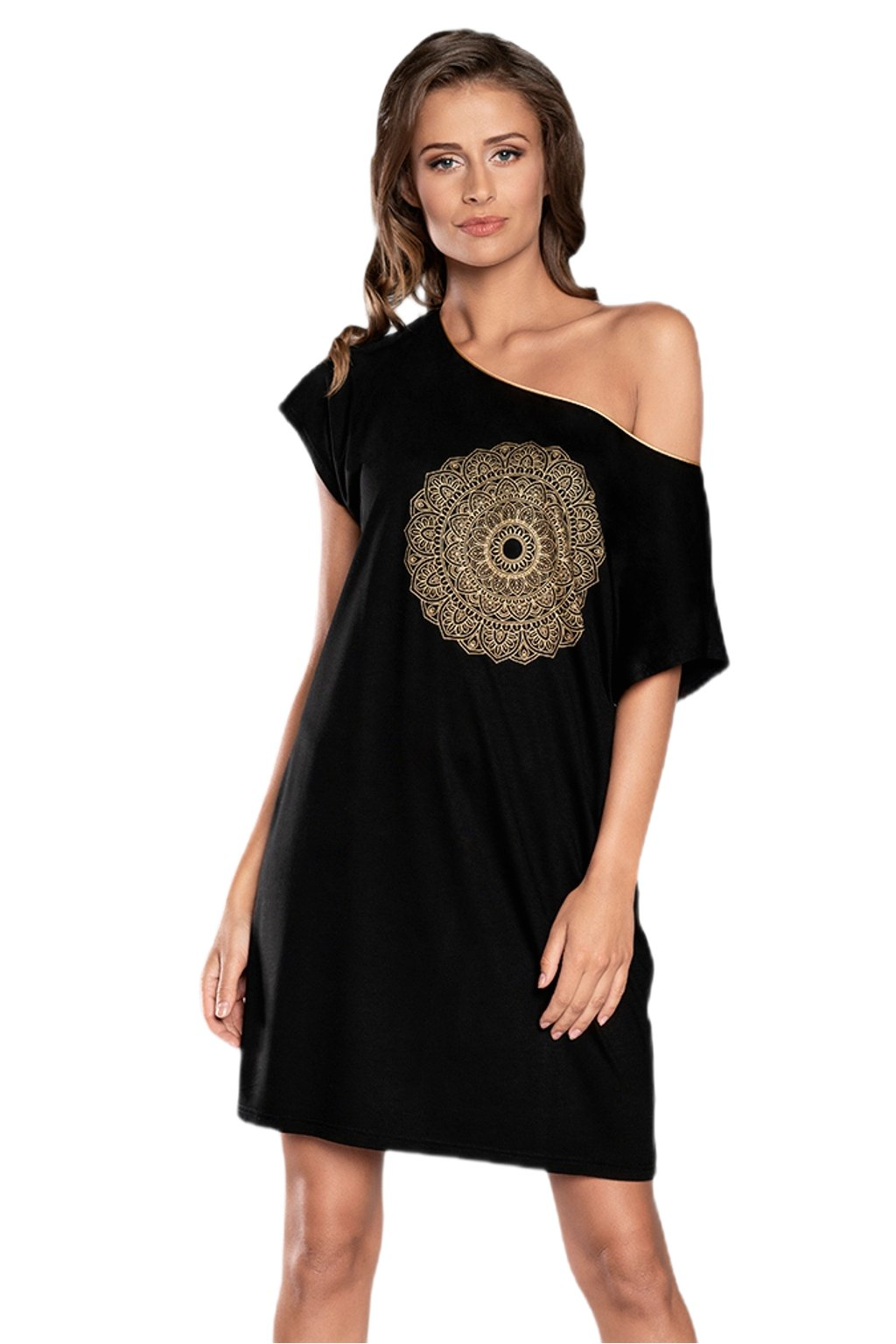 Dámská noční košile Italian Fashion Mandala black