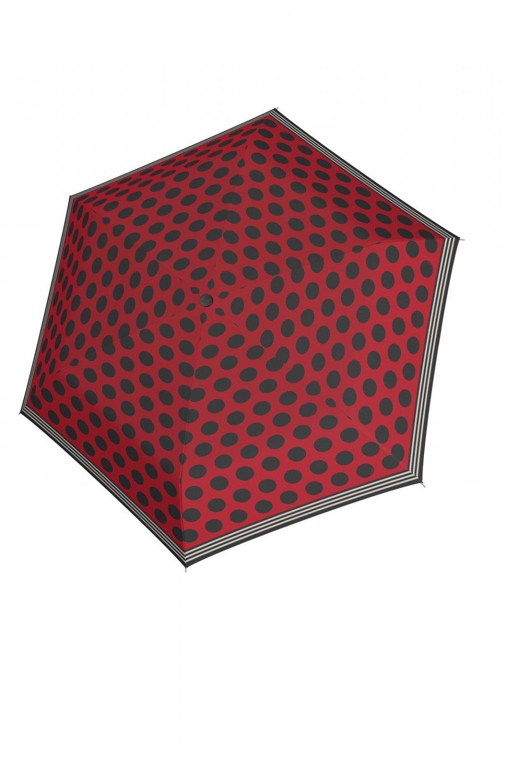 Dámský deštník Doppler Havanna mix up Black red