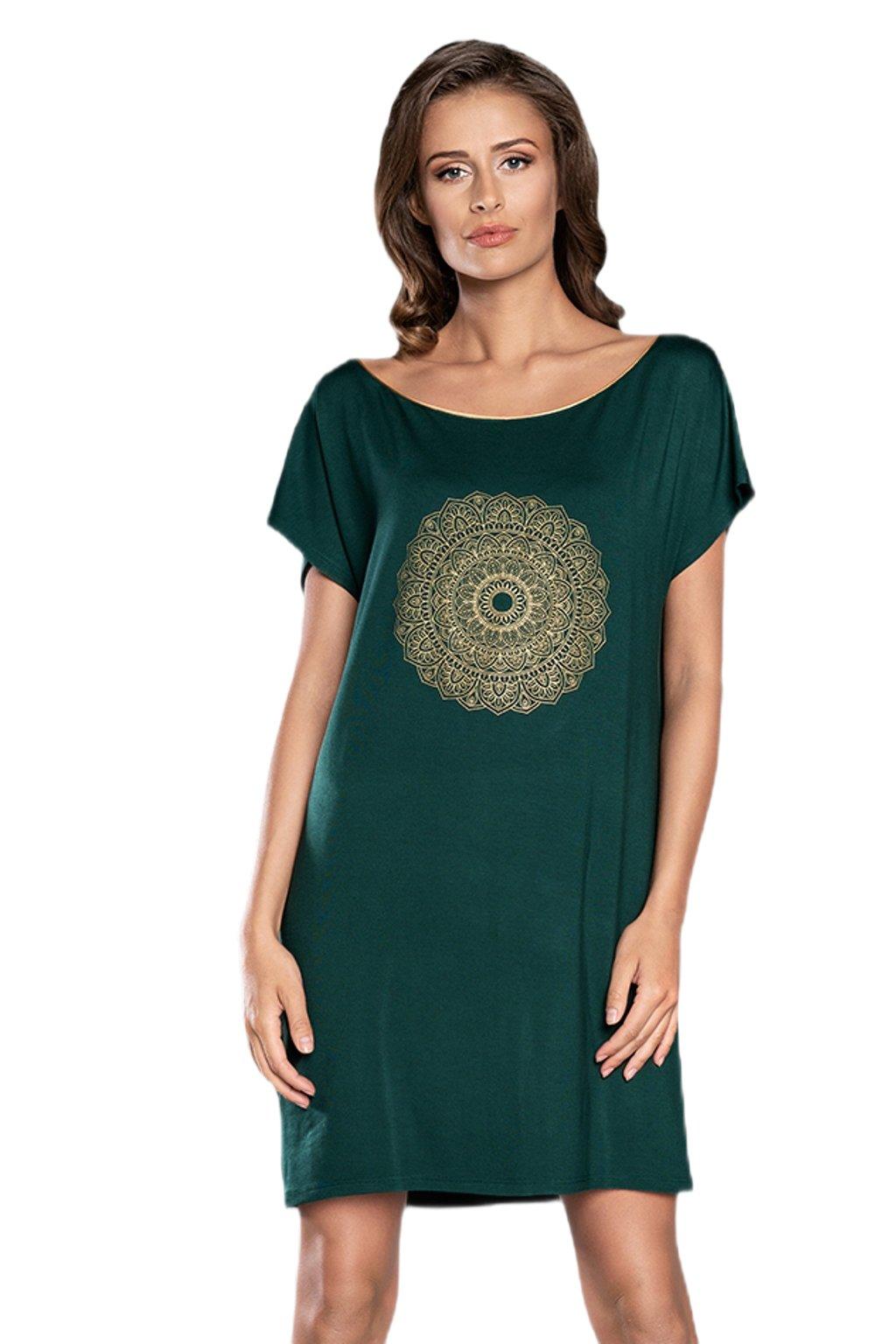 Dámská noční košile Italian Fashion Mandala petrolej