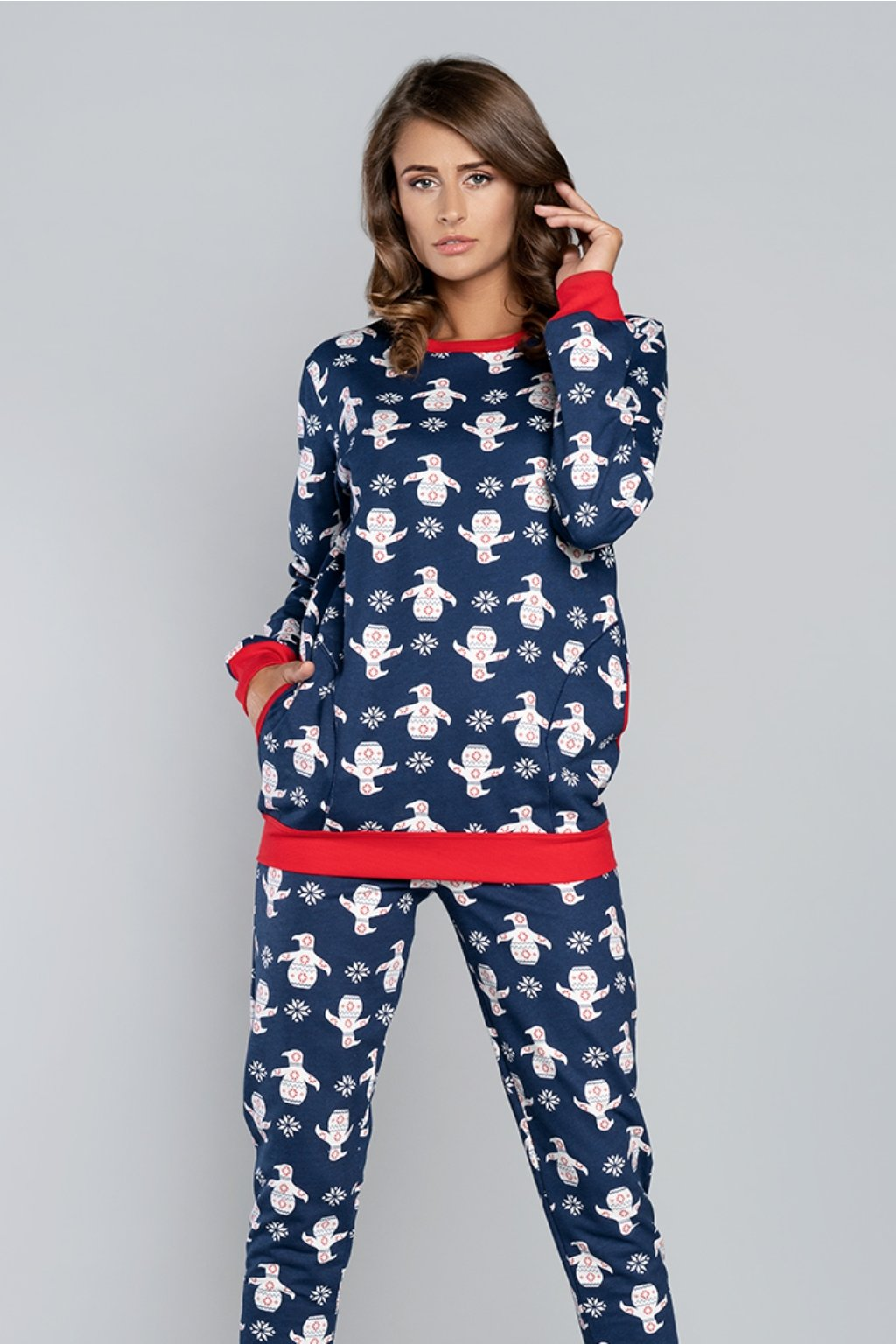 Dámské pyžamo Italian Fashion Nana granat