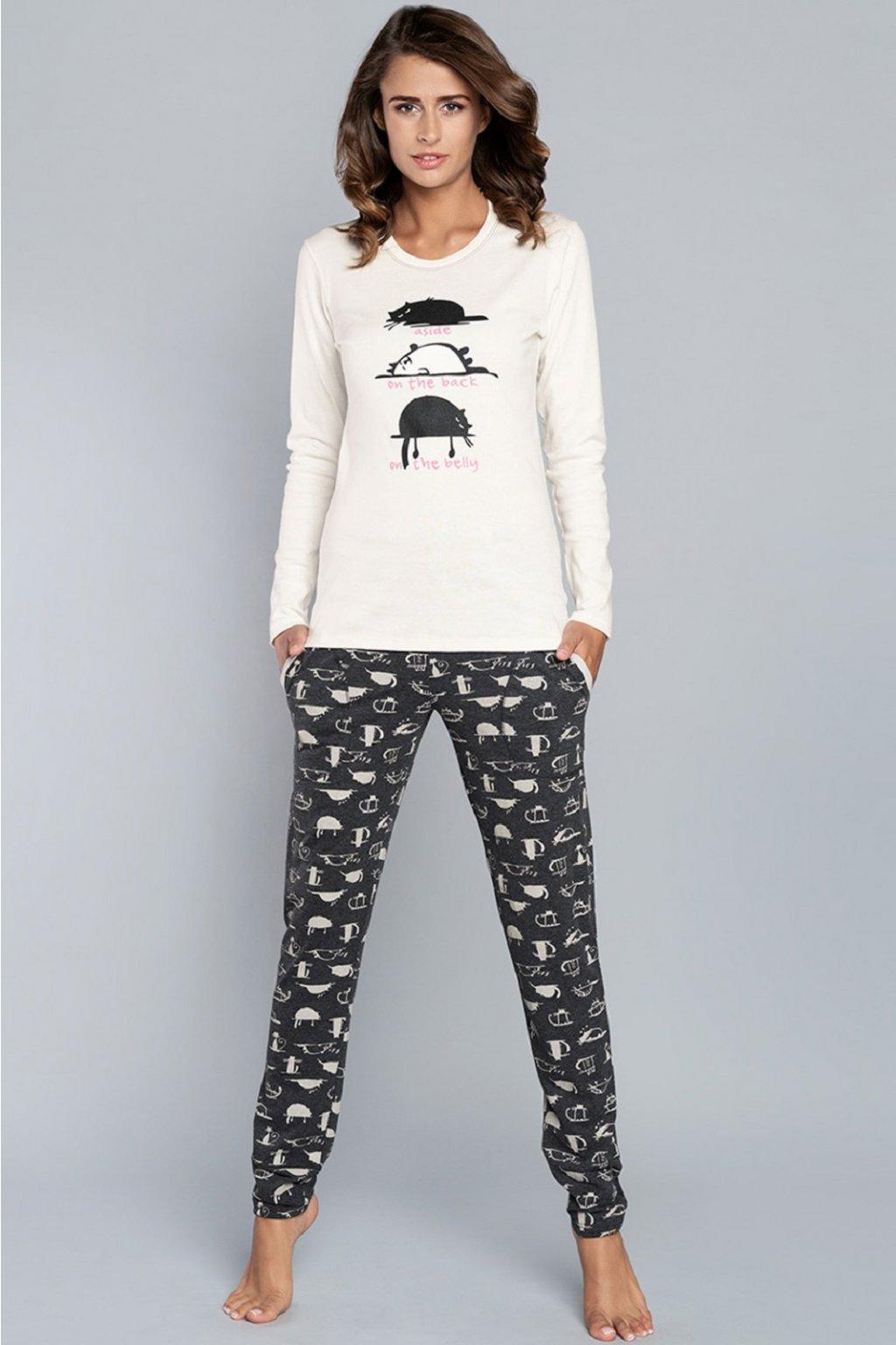 Dámské pyžamo Italian Fashion Dima bílá