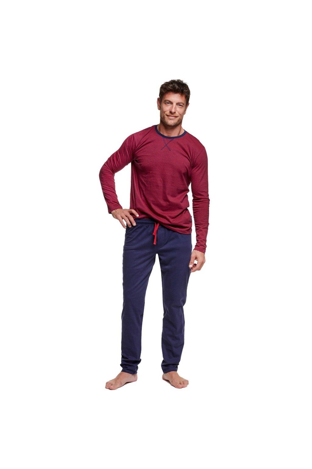 Pánské pyžamo Henderson 37299 bordo