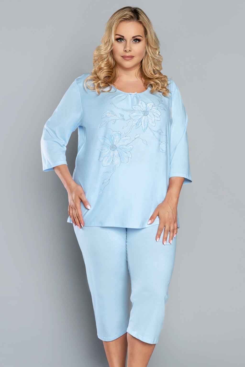 Dámské pyžamo Italian Fashion Bawaria 3/4 Sky
