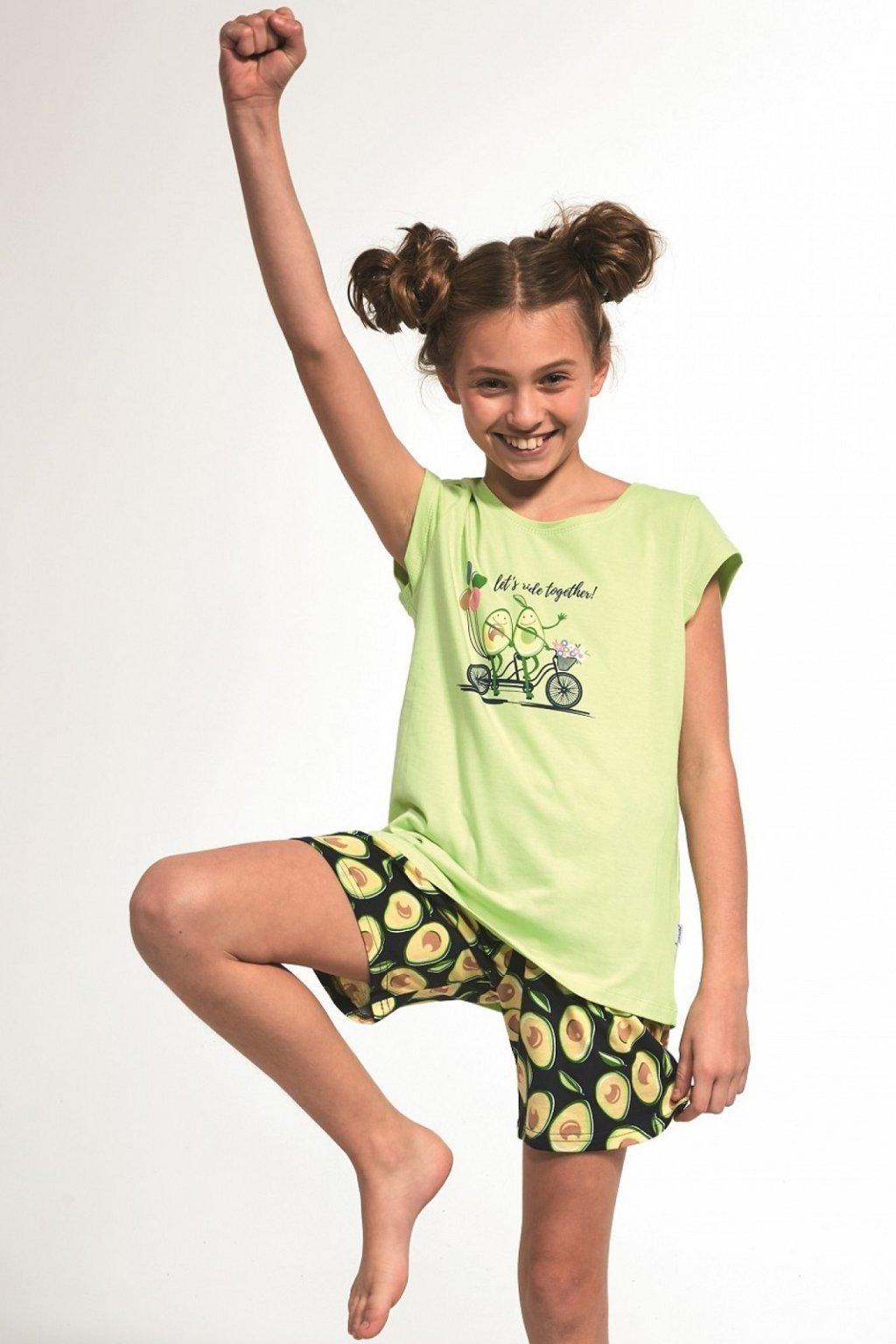 Dívčí pyžamo Cornette 787-788/77 Avocado