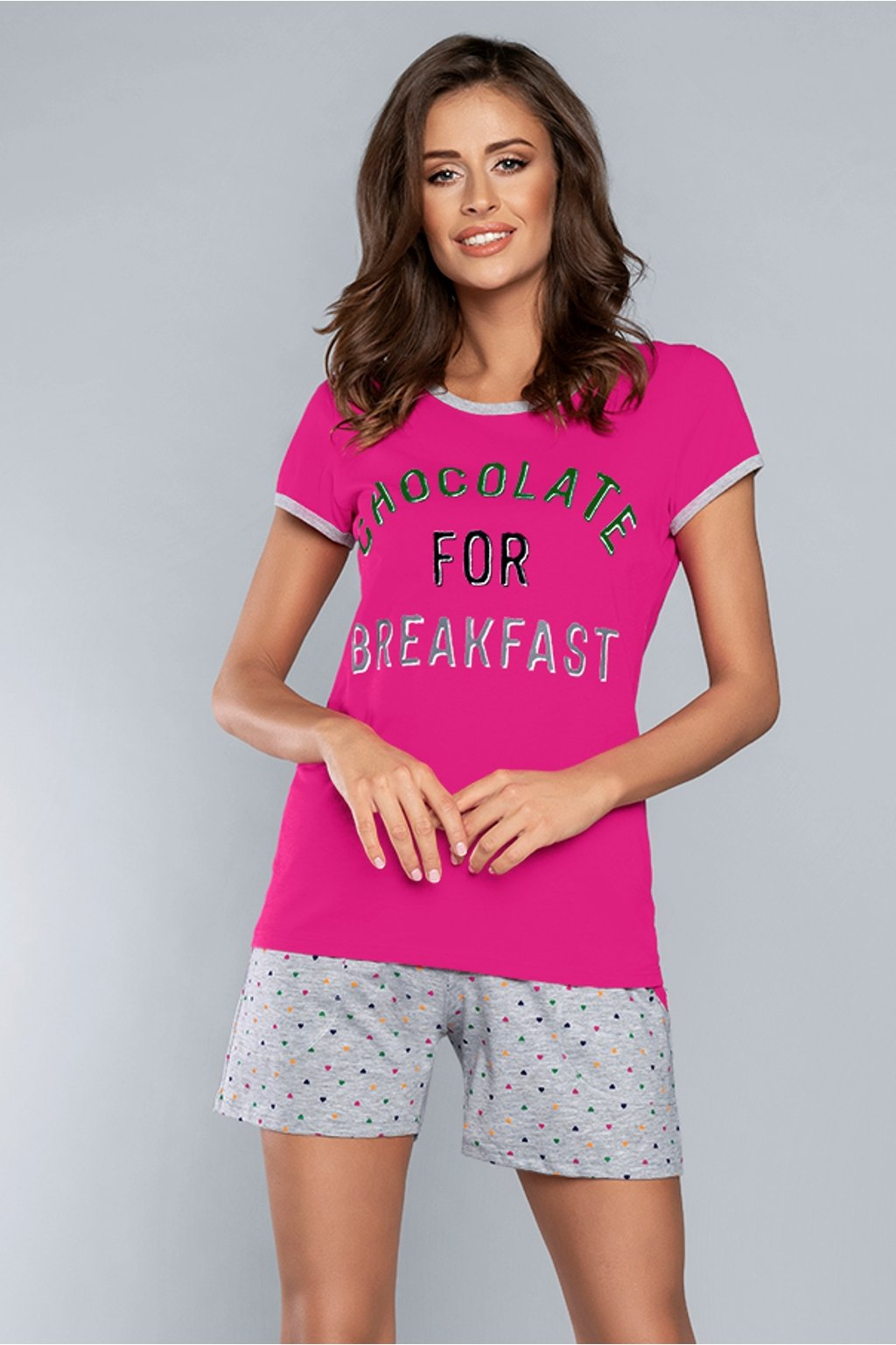 Dámské pyžamo Italian Fashion Coco amarant