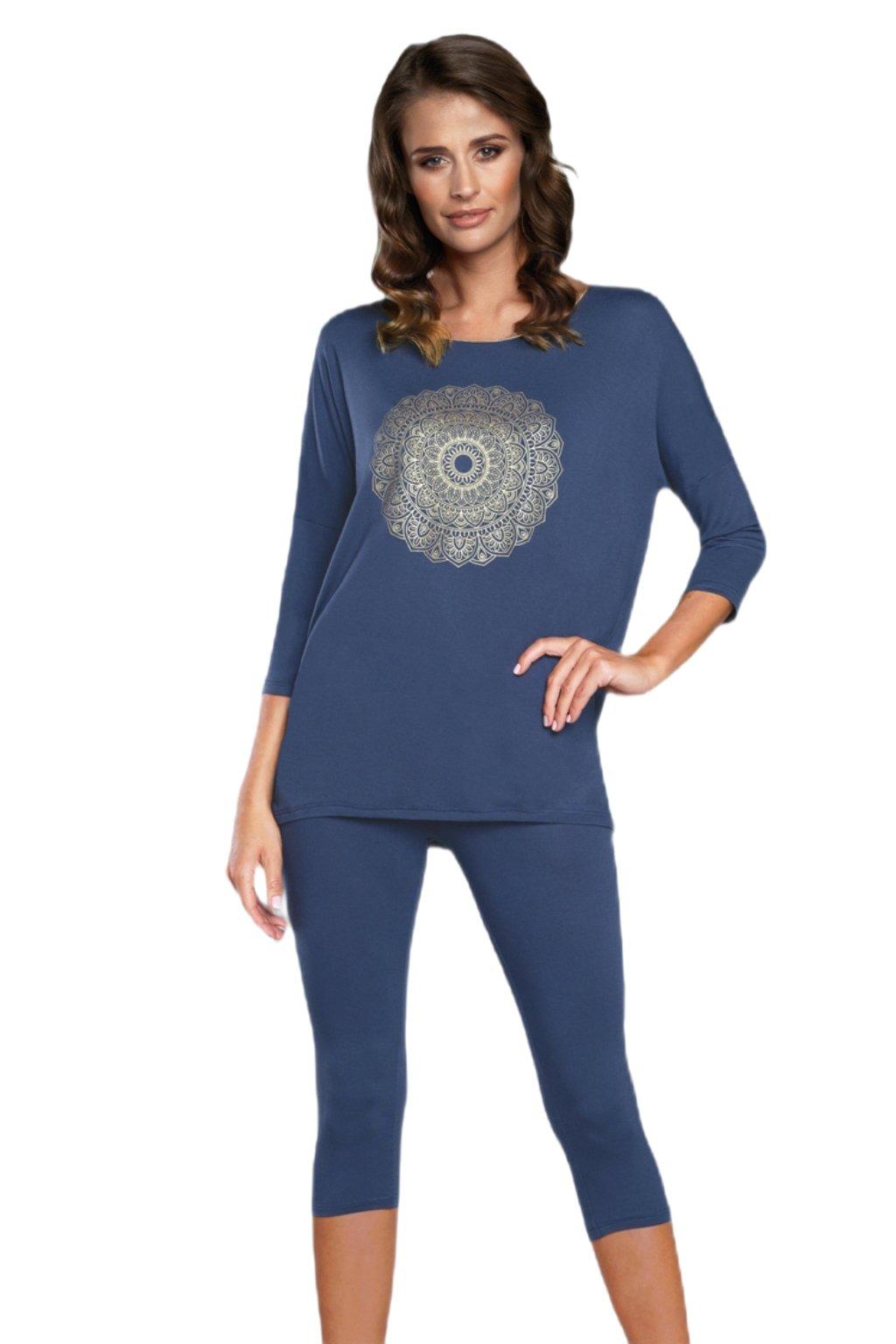 Dámské pyžamo Italian Fashion Mandala 3/4 granat