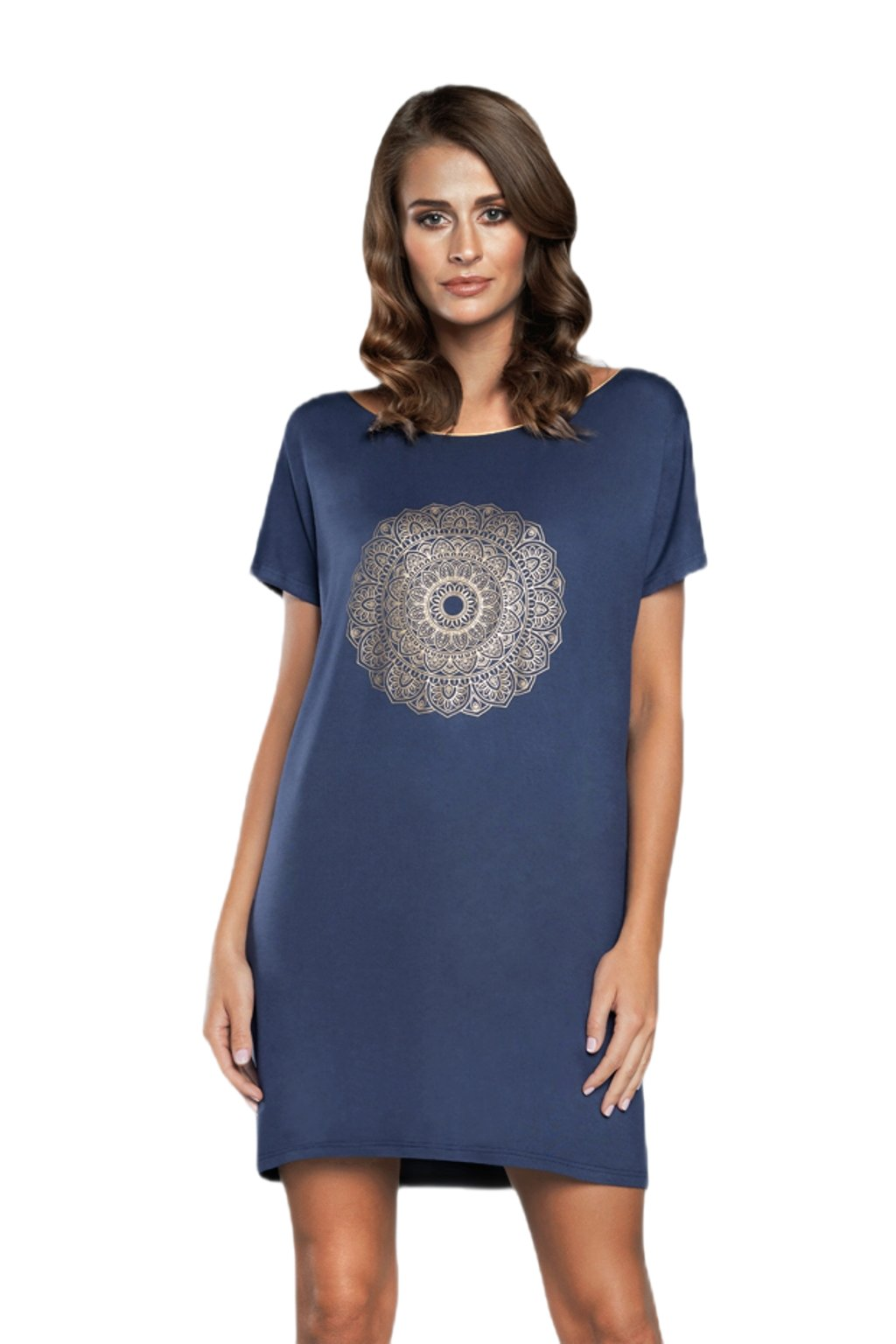 Dámská noční košile Italian Fashion Mandala granat