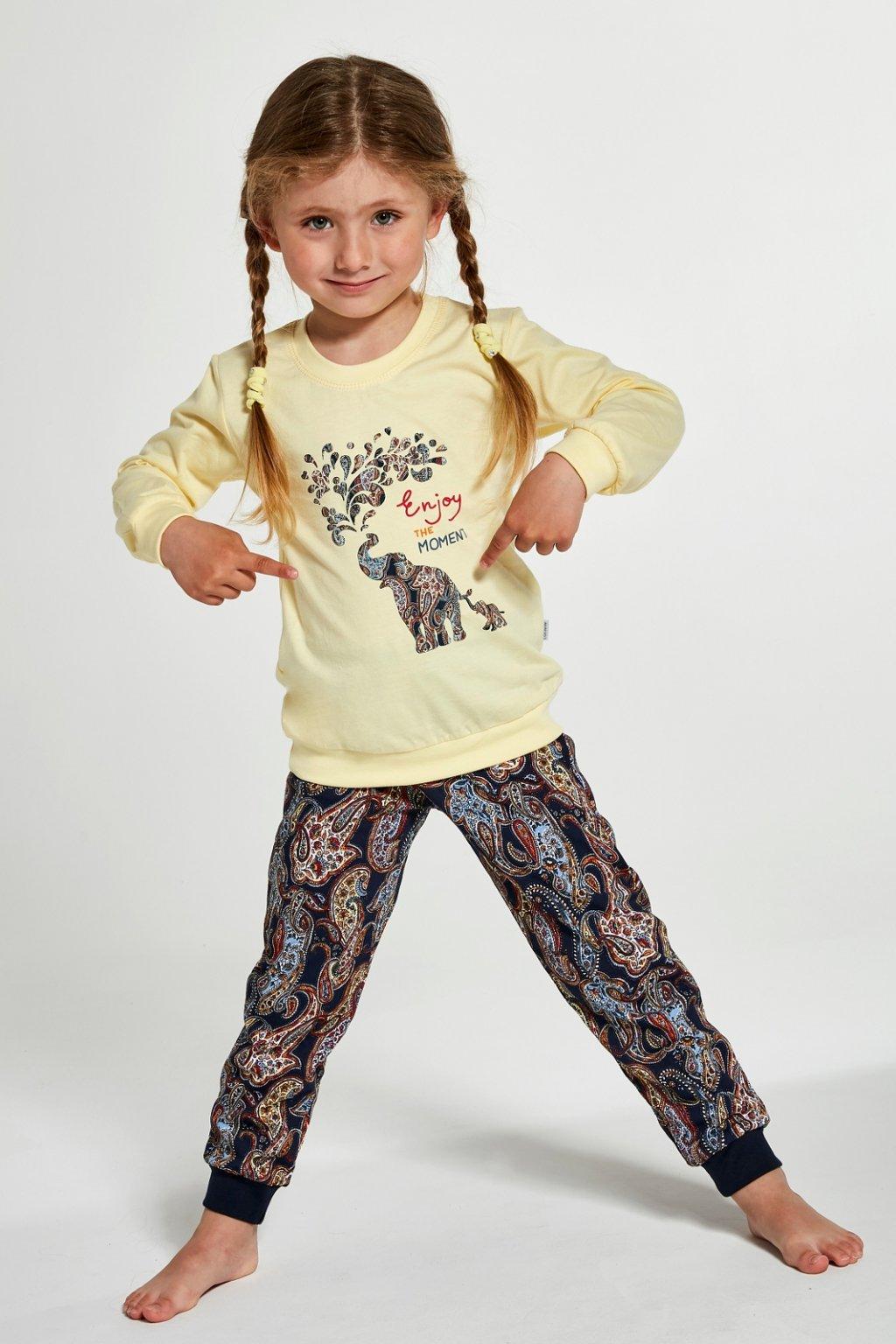 Dívčí pyžamo Cornette 592-594/133 Elephants