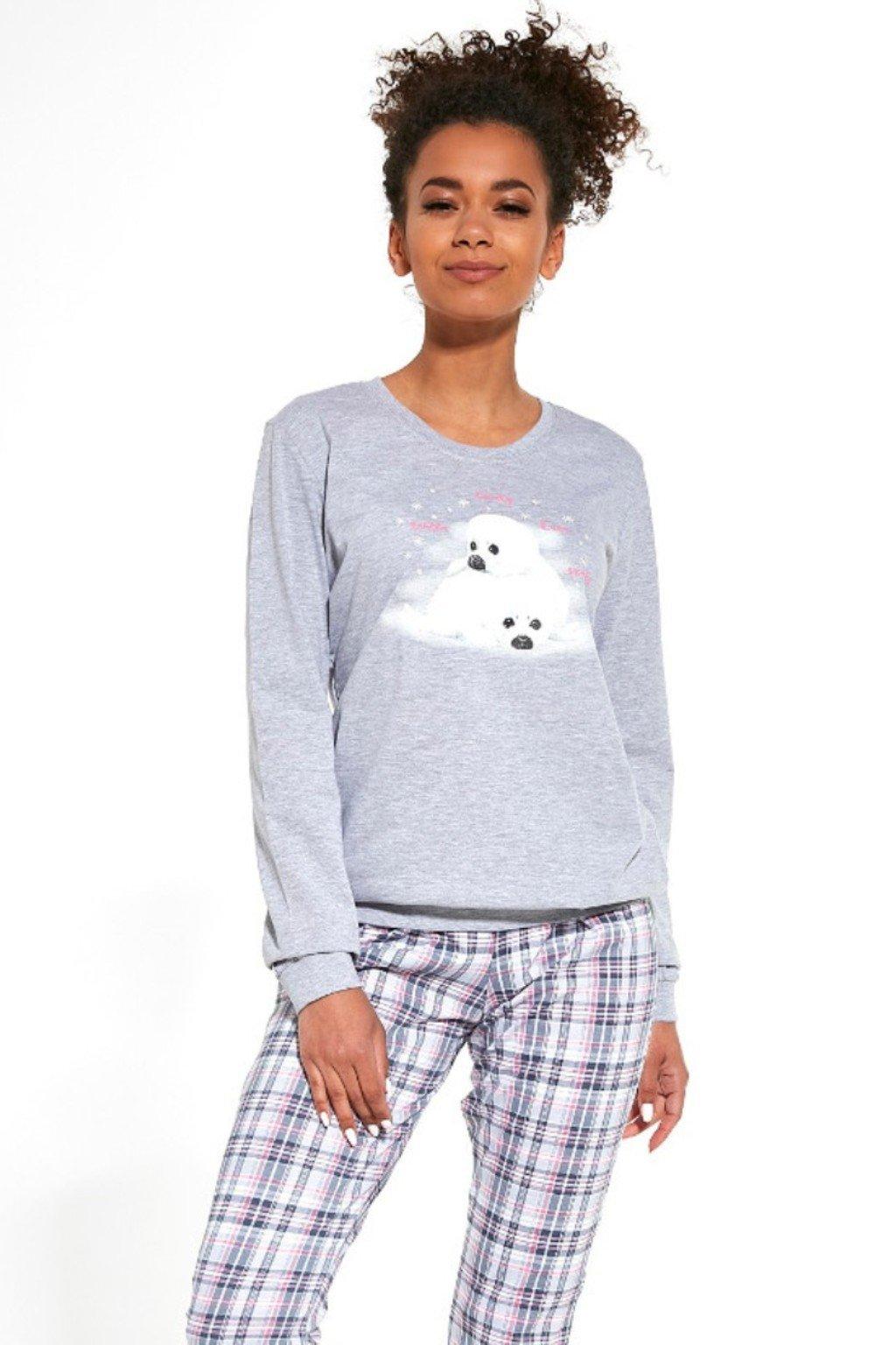 Dámské pyžamo s dlouhým rukávem Cornette 671/260 Seals