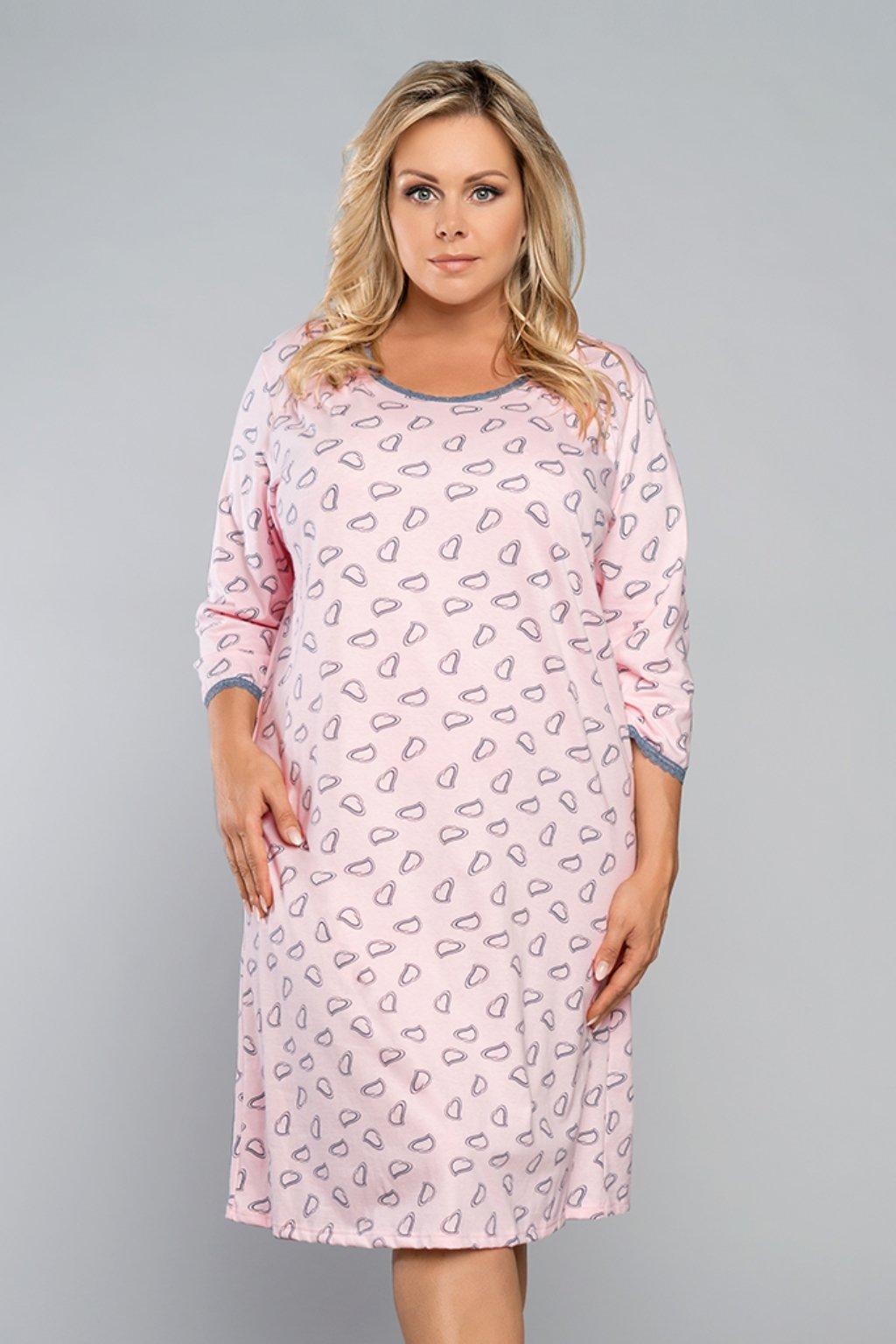 Dámská noční košile Italian Fashion Rozalia 3/4 losos