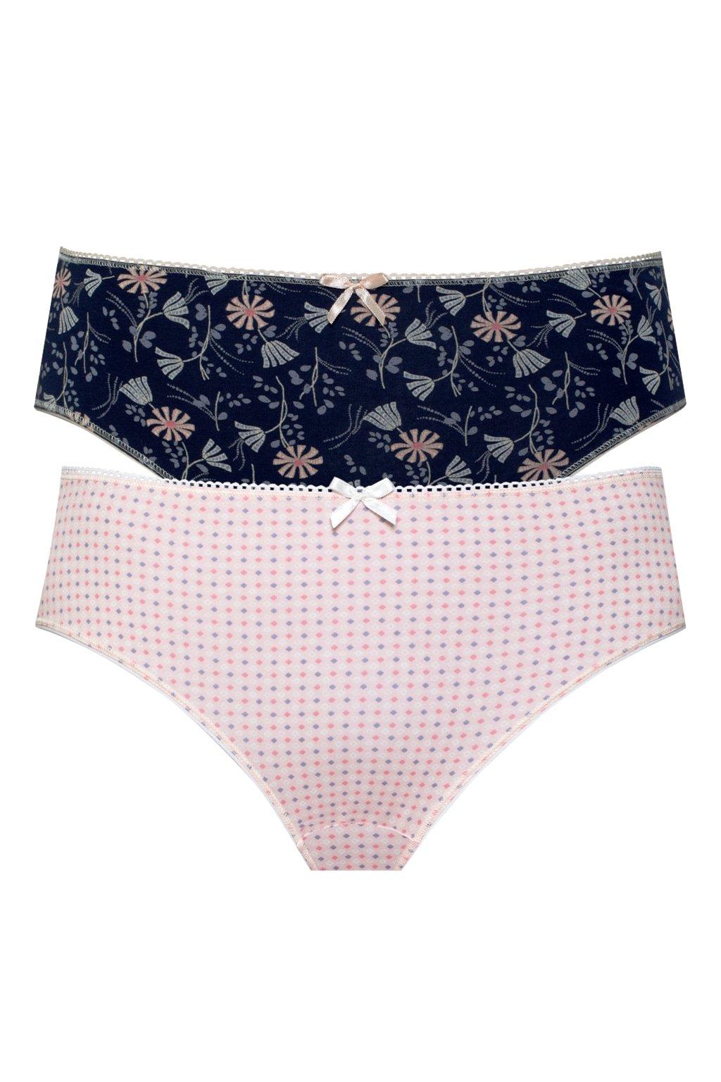 Dámské bavlněné kalhotky Leptir 50/08 2 pack