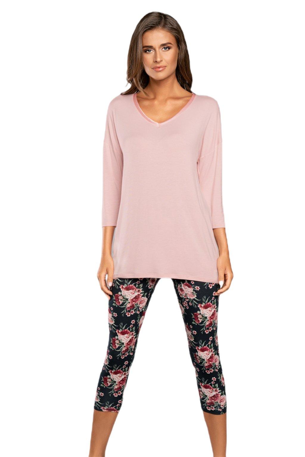 Dámské růžové pyžamo s 3/4 rukávem Italian Fashion Symfonia