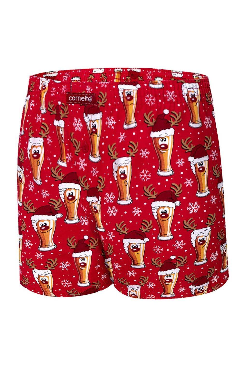 Pánské vánoční boxerky trenýrkyCornette 016/13 Beer 5