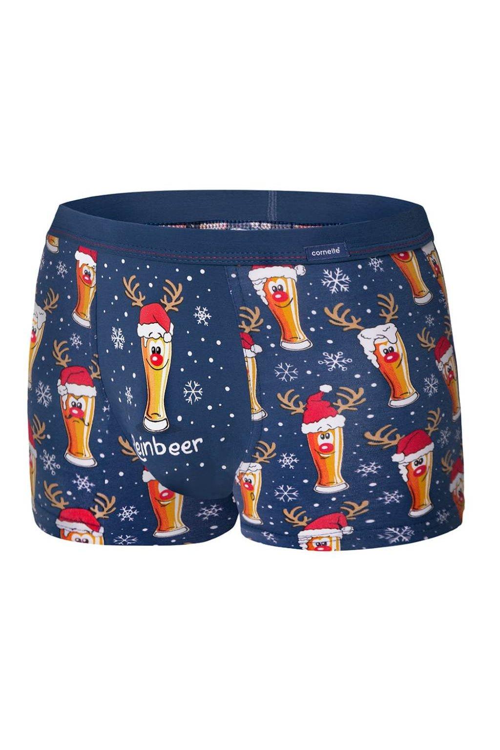 Vánoční pánské boxerky Cornette 007/53 Beer.