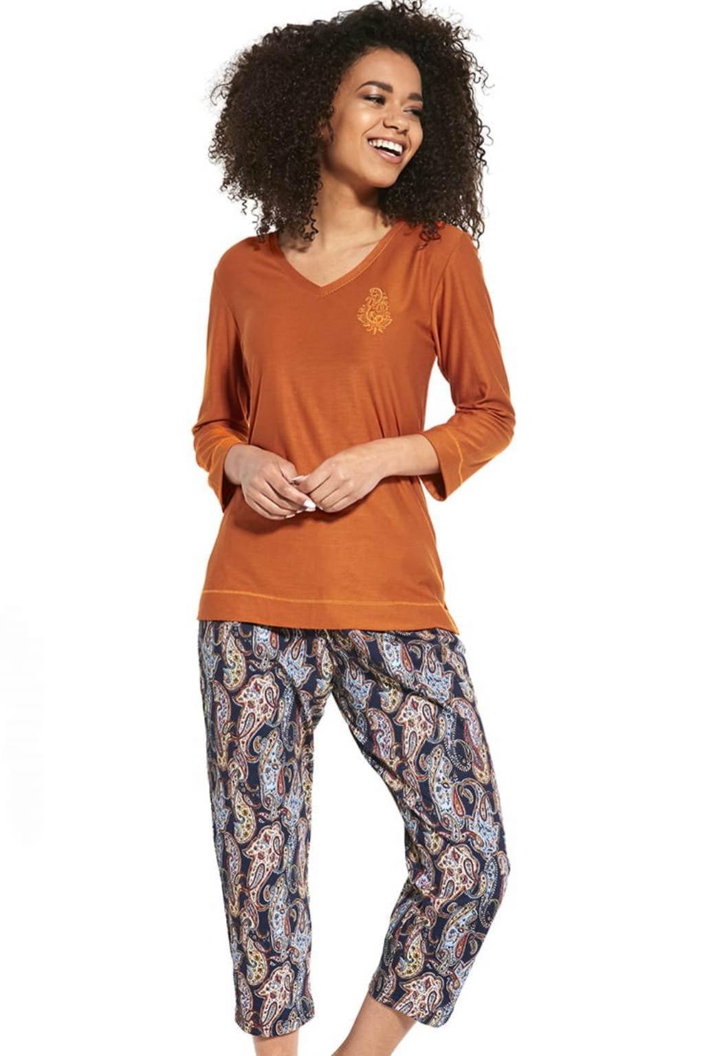 Dámské pyžamo s 3/4 rukávem Cornette 389/252 Ornament