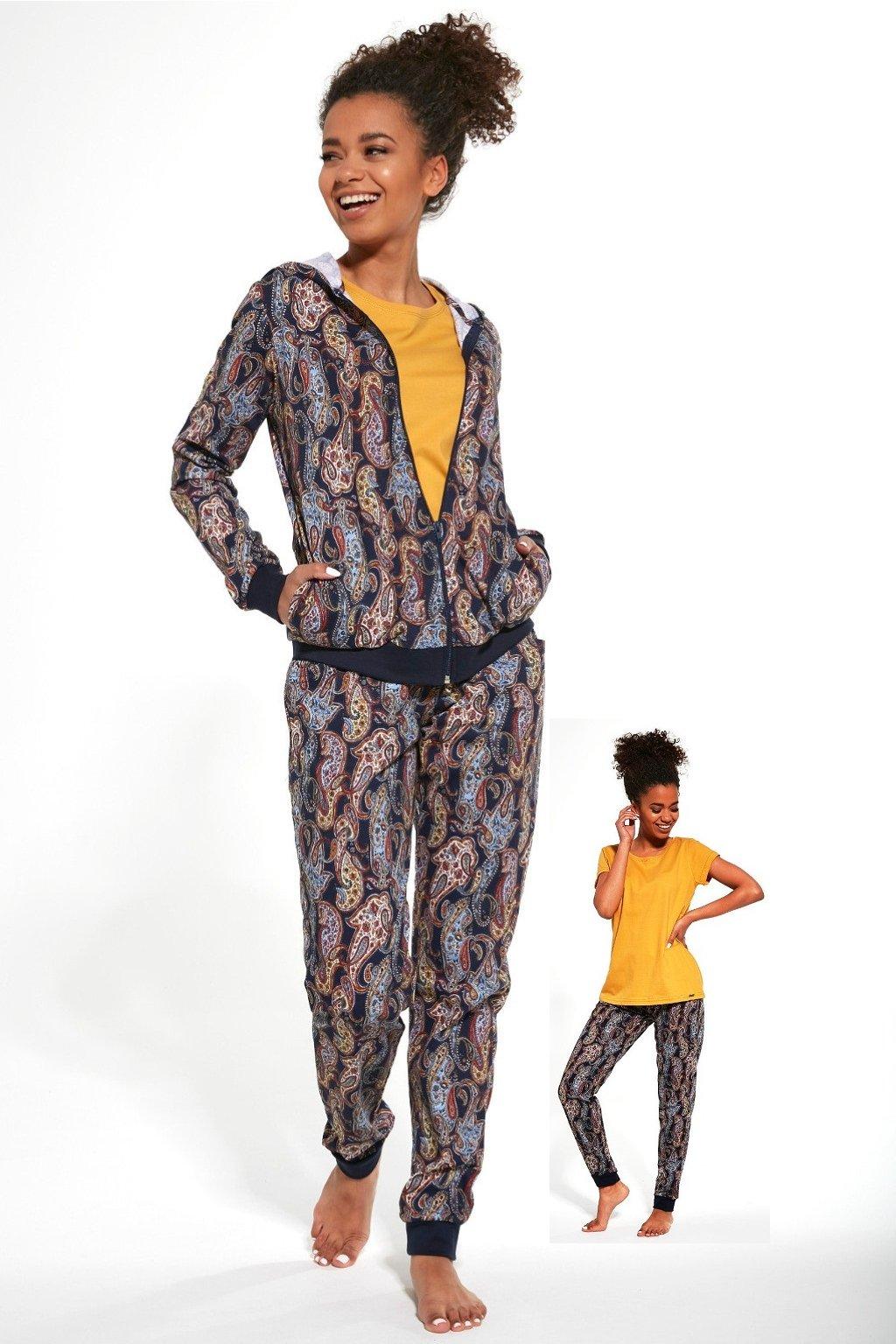 Dámské pyžamo s dlouhým rukávem Cornette 355/272 Octavia