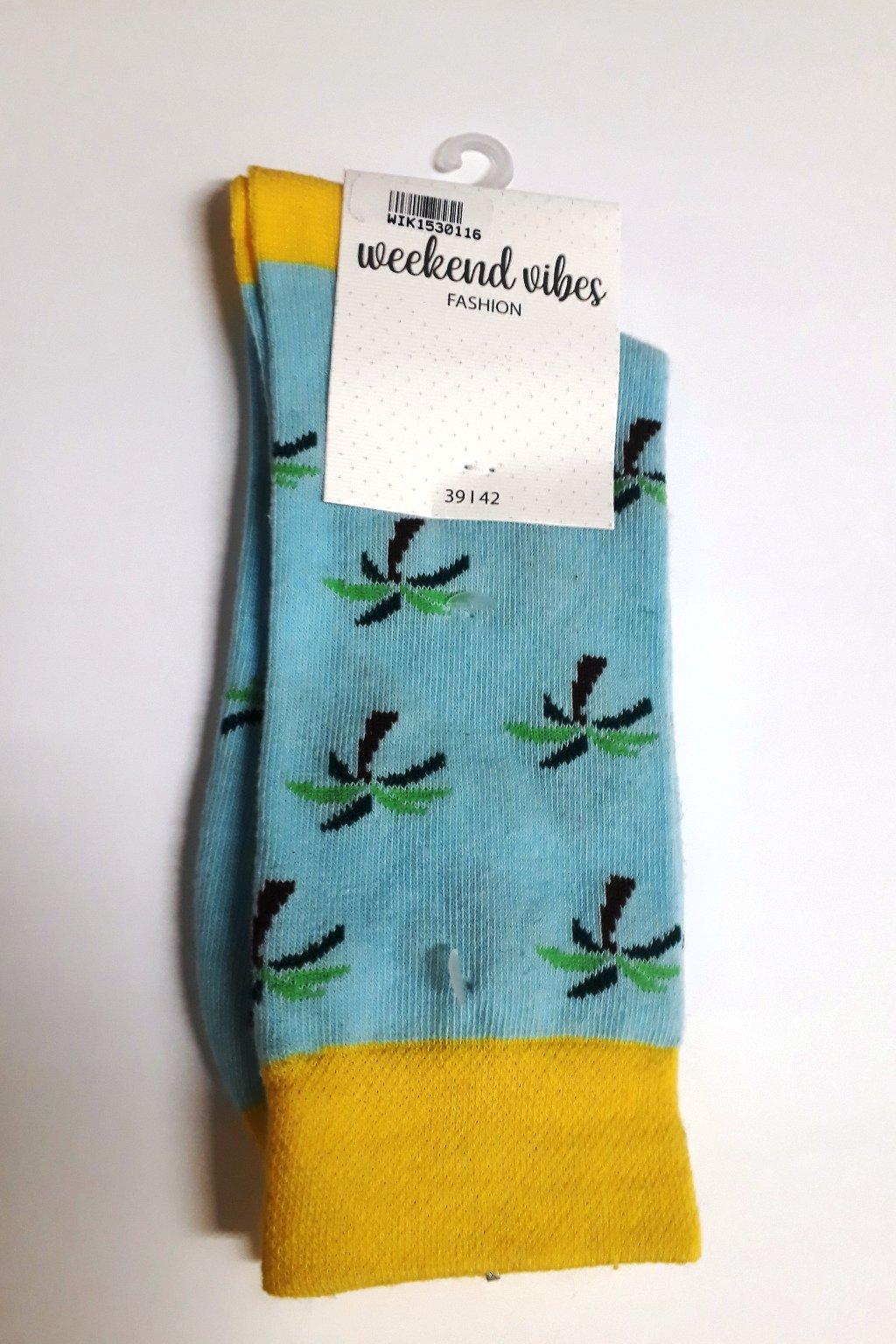 Veselé ponožky Wik weekend vihes 15301 palm