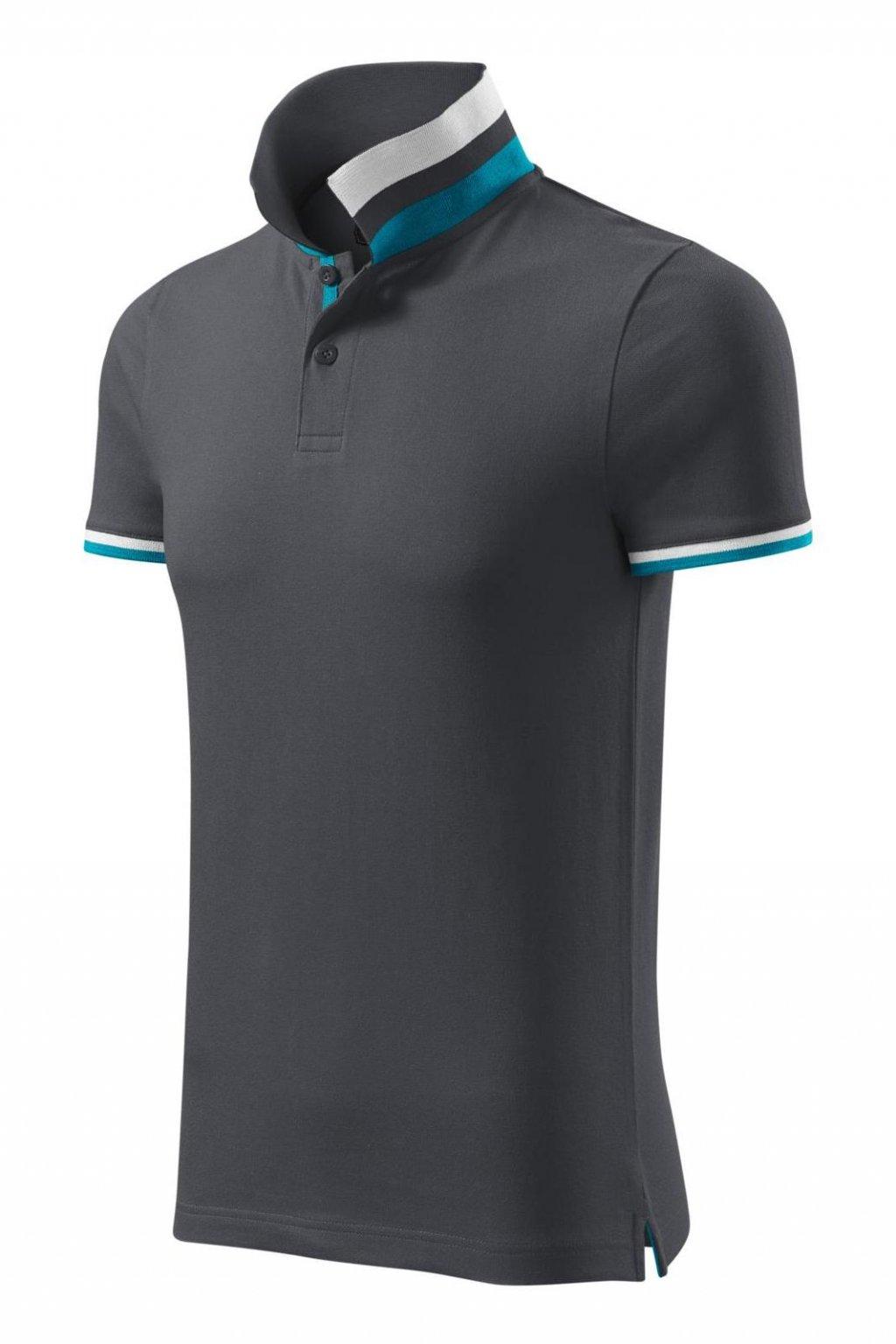 Pánské triko s límečkem a krátkým rukávem