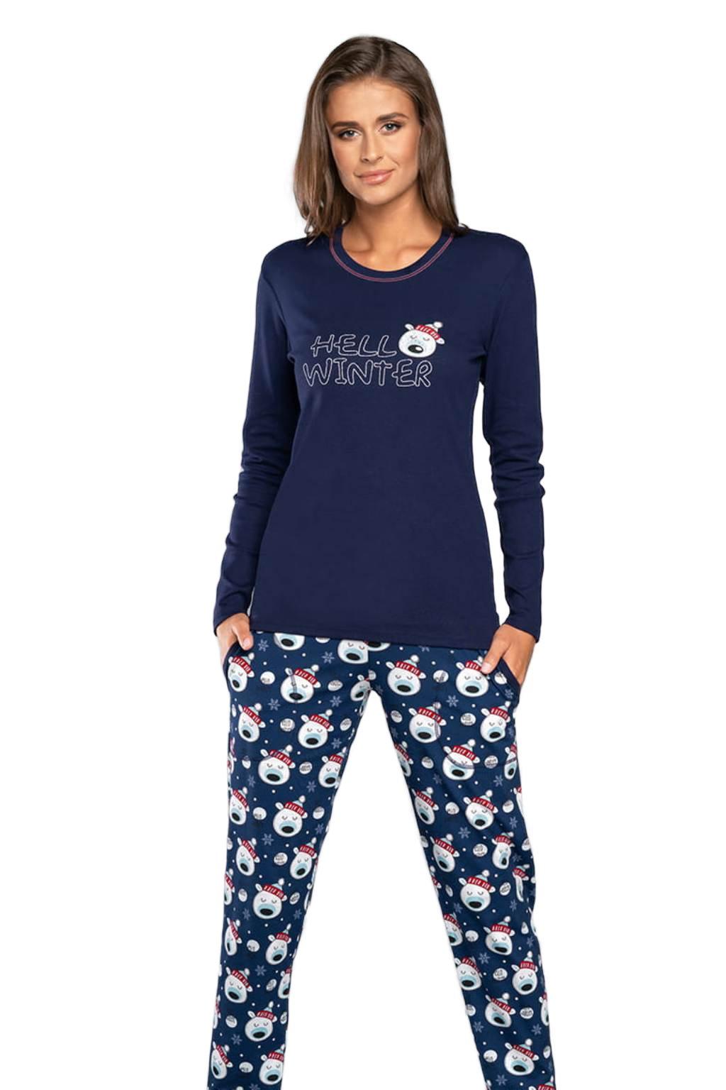Dámské bavlněné pyžamo s dlouhým rukávem Italian Fashion Czoka