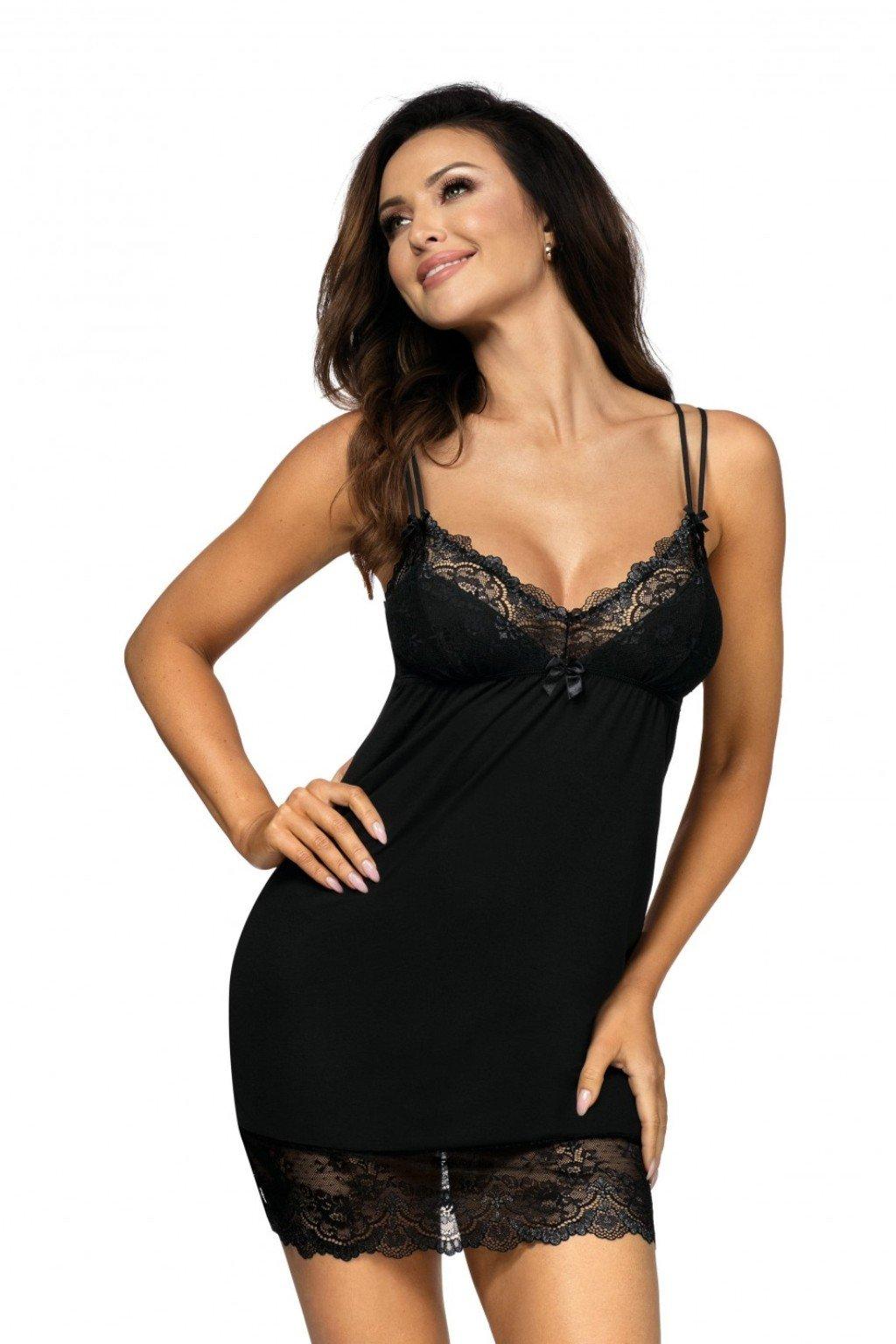 dámská noční košilka s krajkou Donna Pamela
