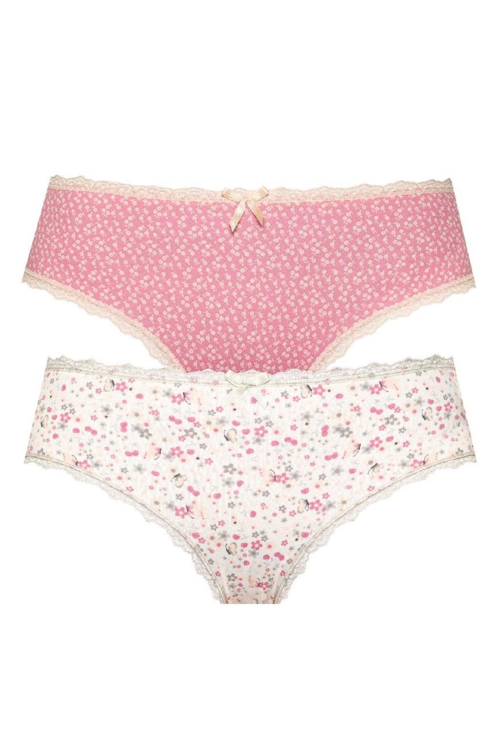 Dámské bavlněné kalhotky s krajkou značky Leptir.