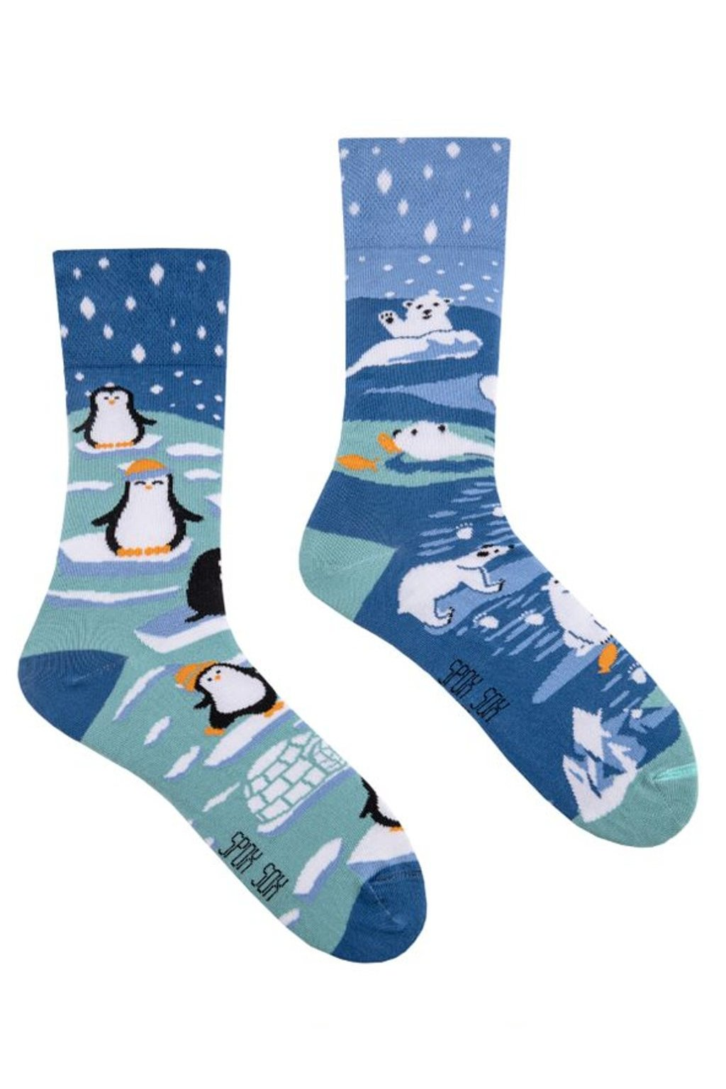 Veselé ponožky Spox Sox jižní pól