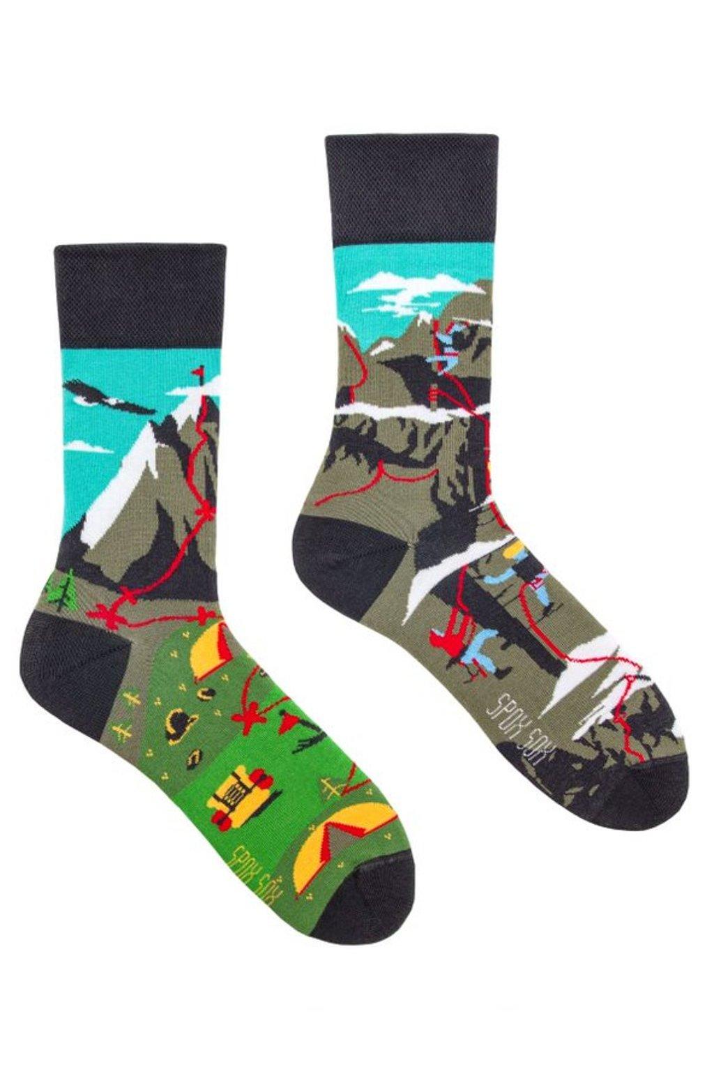 Veselé ponožky Spox Sox lezení