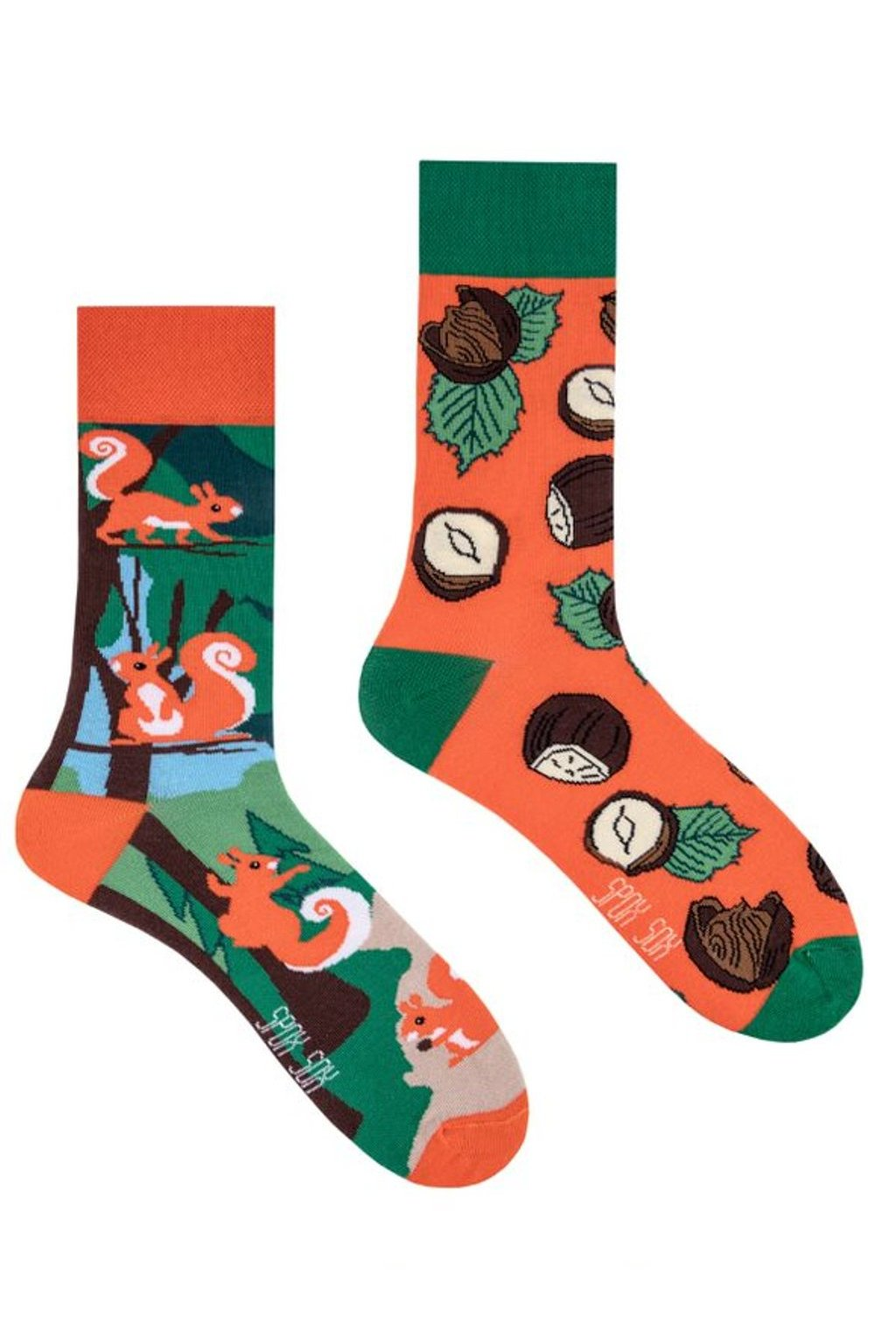 Veselé ponožky Spox Sox veverky