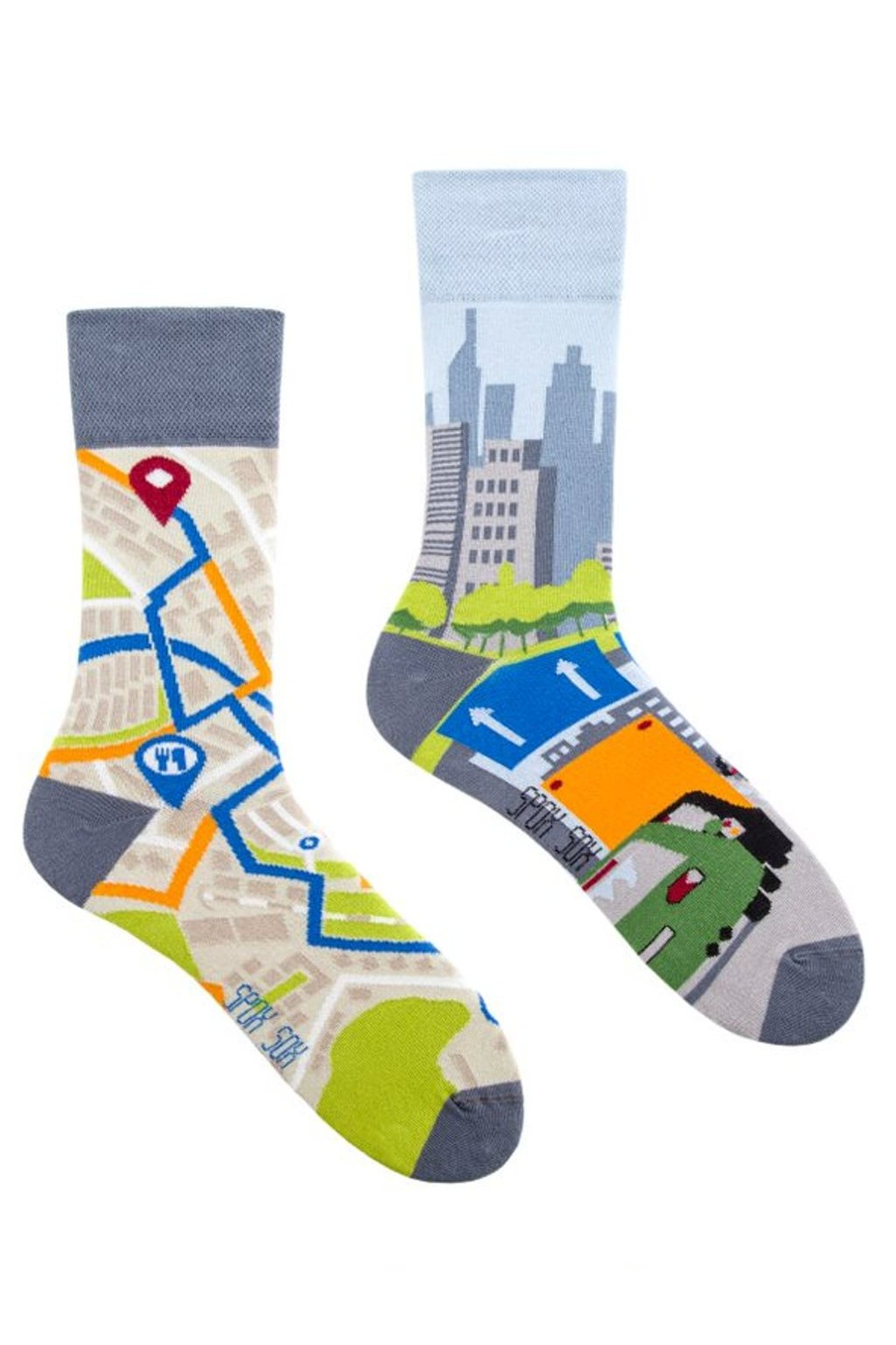 Veselé ponožky Spox Sox gps město