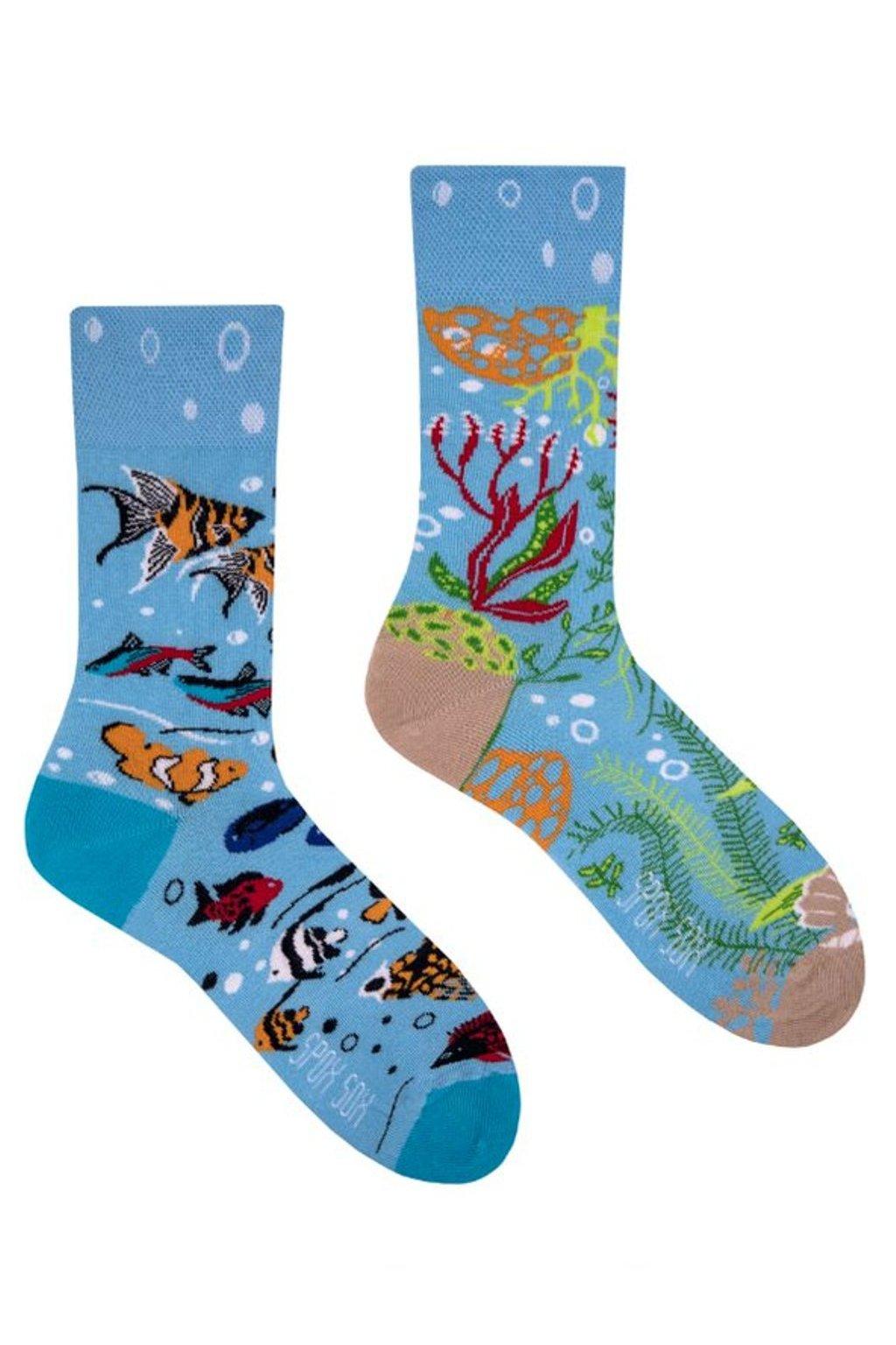 Veselé ponožky Spox Sox akvárium