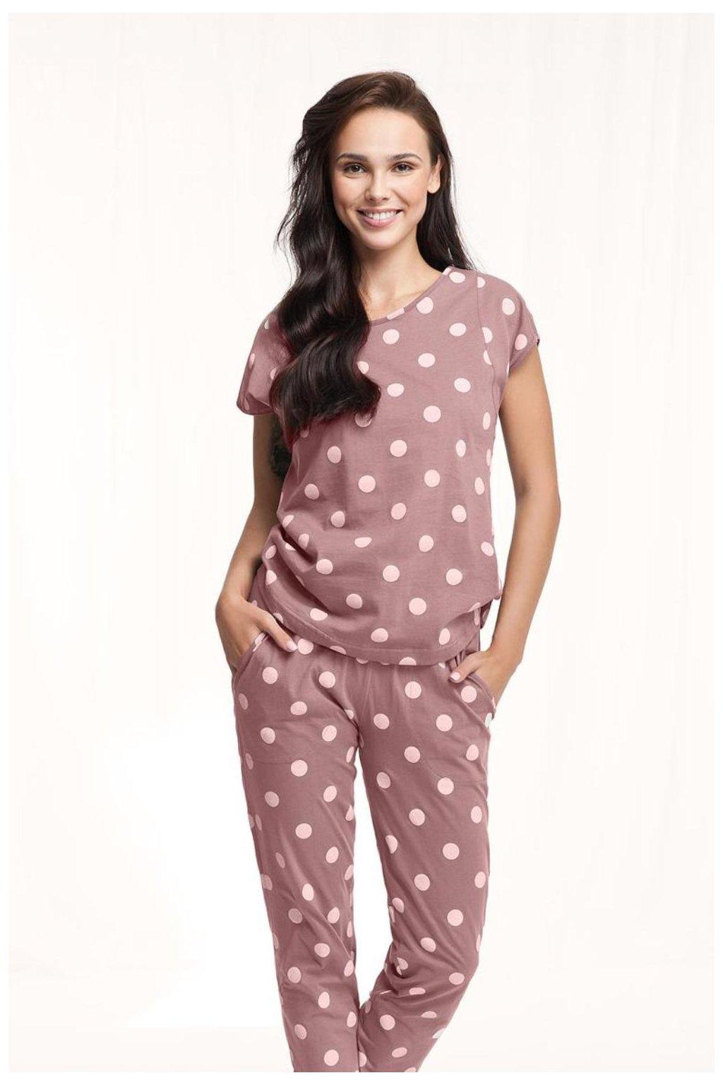 Dámské bavlněné pyžamo Luna 496