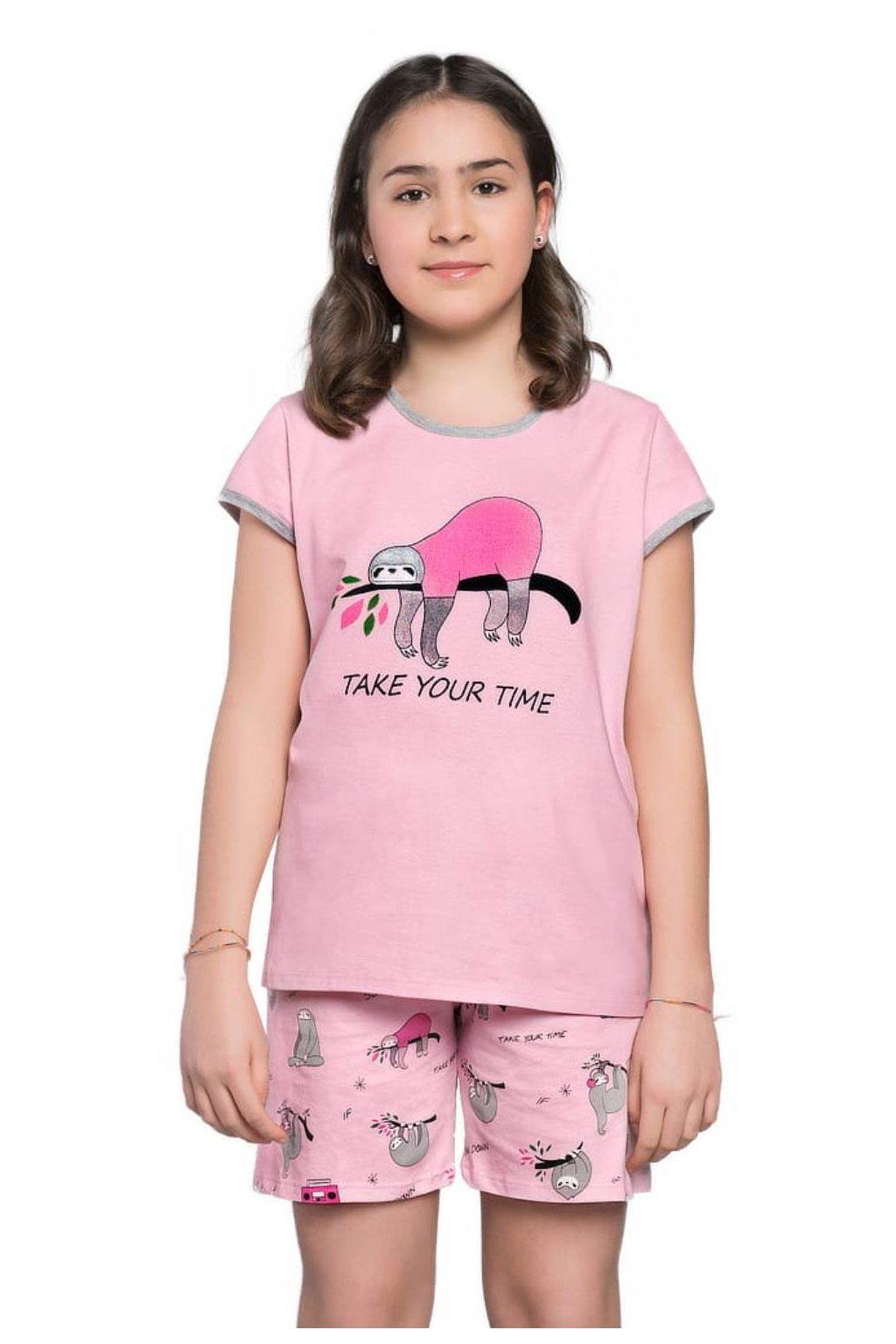 Dívčí bavlněné pyžamo s krátkým rukávem Italian Fashion Lalima.