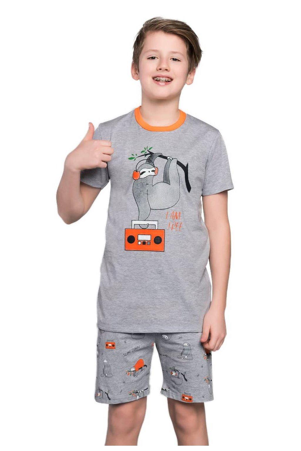 Chlapecké bavlněné pyžamo s krátkým rukávem Italian Fashion Bafi.