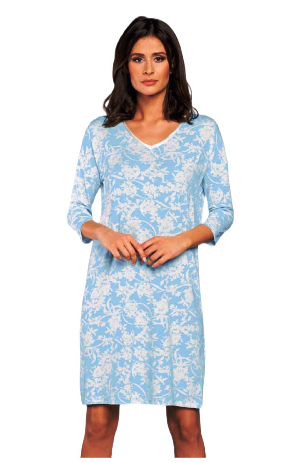 Dámská viskózová noční košile s 3/4 rukávem Italian Fashion Bryza.