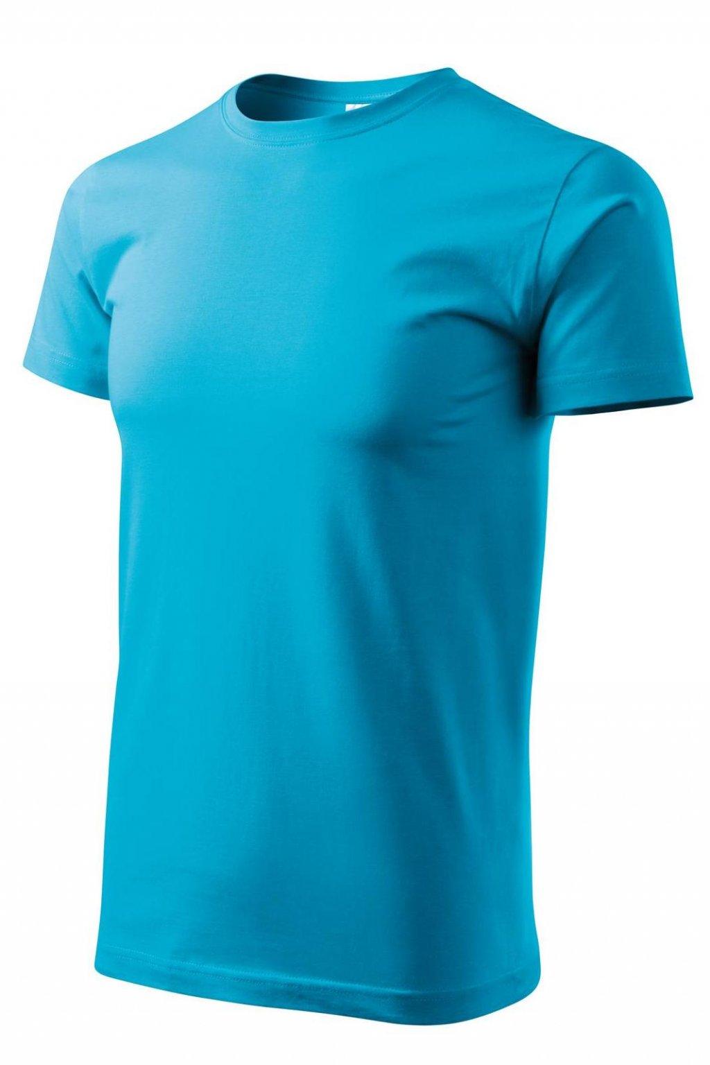 Pánské tyrkysové tričko s krátkým rukávem MF 129/44.