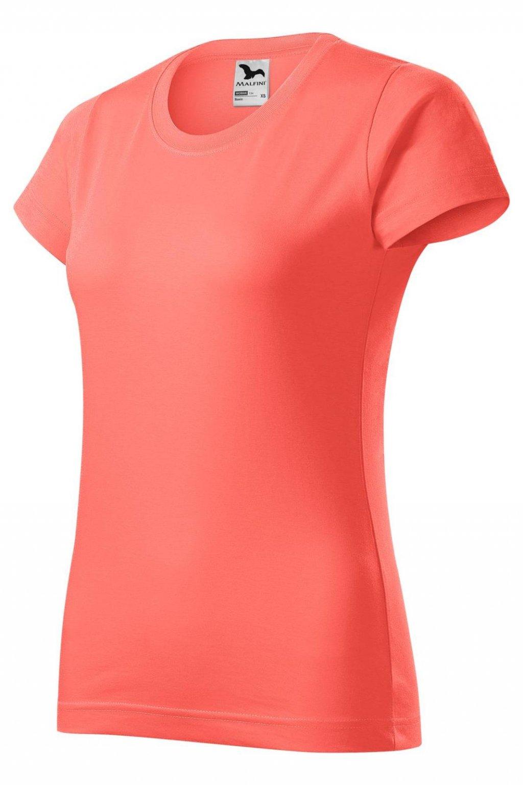 Dámské bavlněné tričko s krátkým rukávem MF 134/A1.