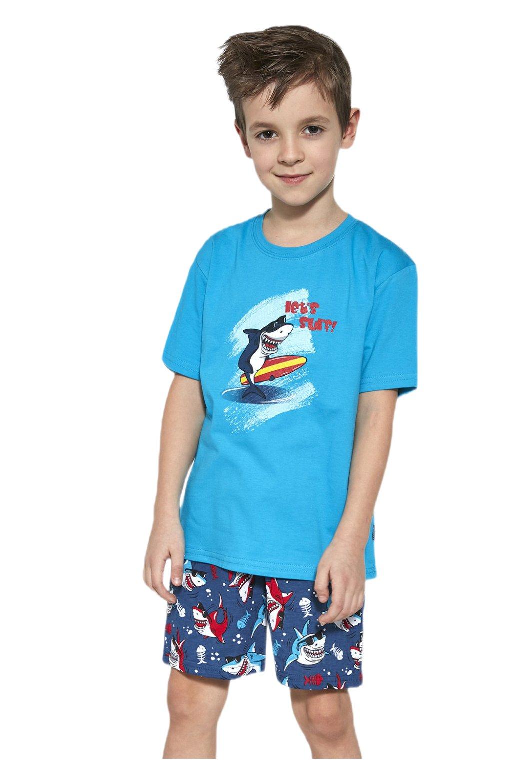 Chlapecké bavlněné pyžamo s krátkým rukávem Cornette 790/90 Shark.