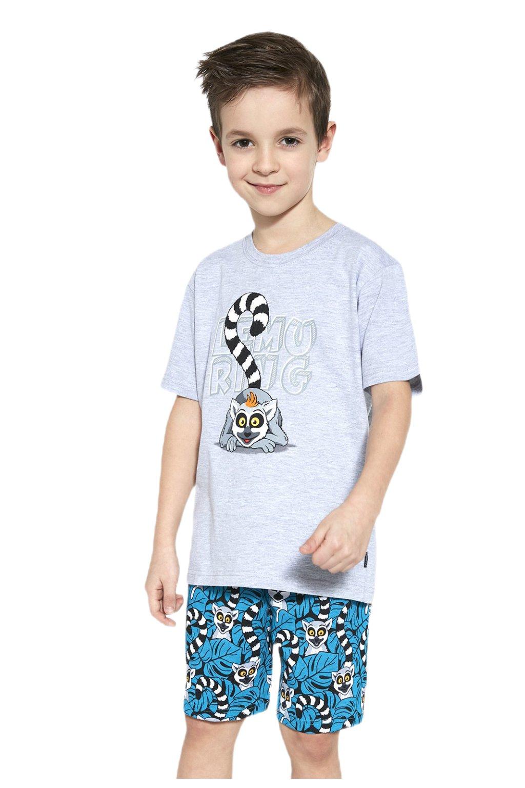 Chlapecké bavlněné pyžamo s krátkým rukávem Cornette 790/95 Lemuring.