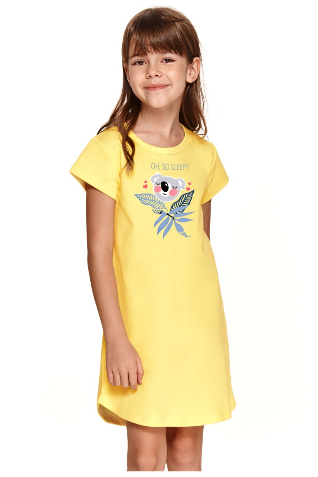 Kvalitní žlutá dívčí noční košilka značky Taro Matylda.
