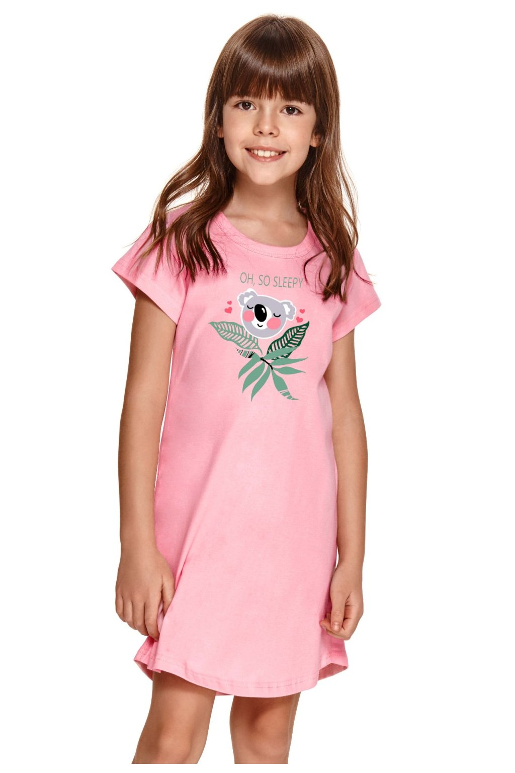Kvalitní růžová dívčí noční košilka Taro Matylda.