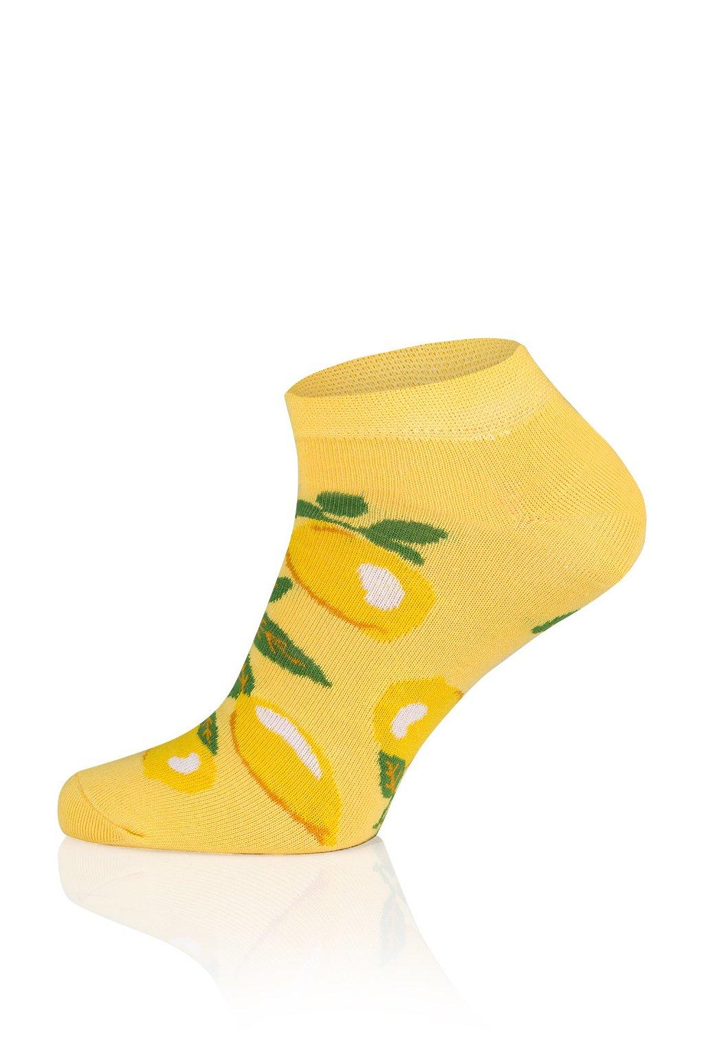 Veselé pánské kotníkové ponožky Gee One S 117 S Lemon.