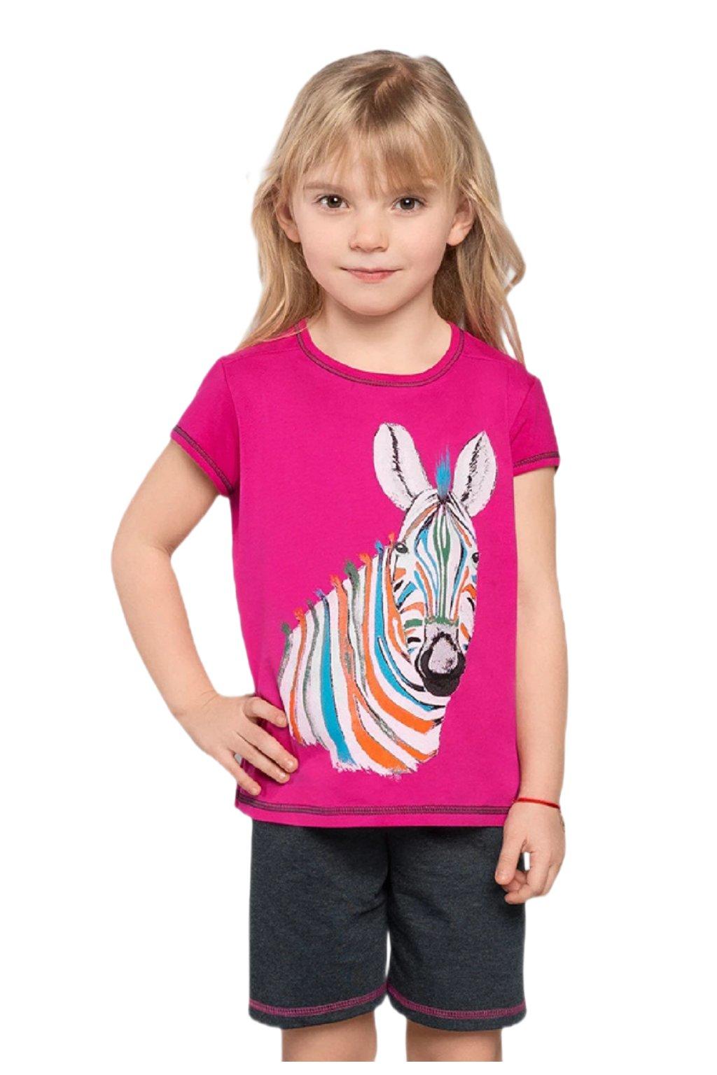 Dívčí bavlněné pyžamo s krátkým rukávem Italian Fashion Afrika.