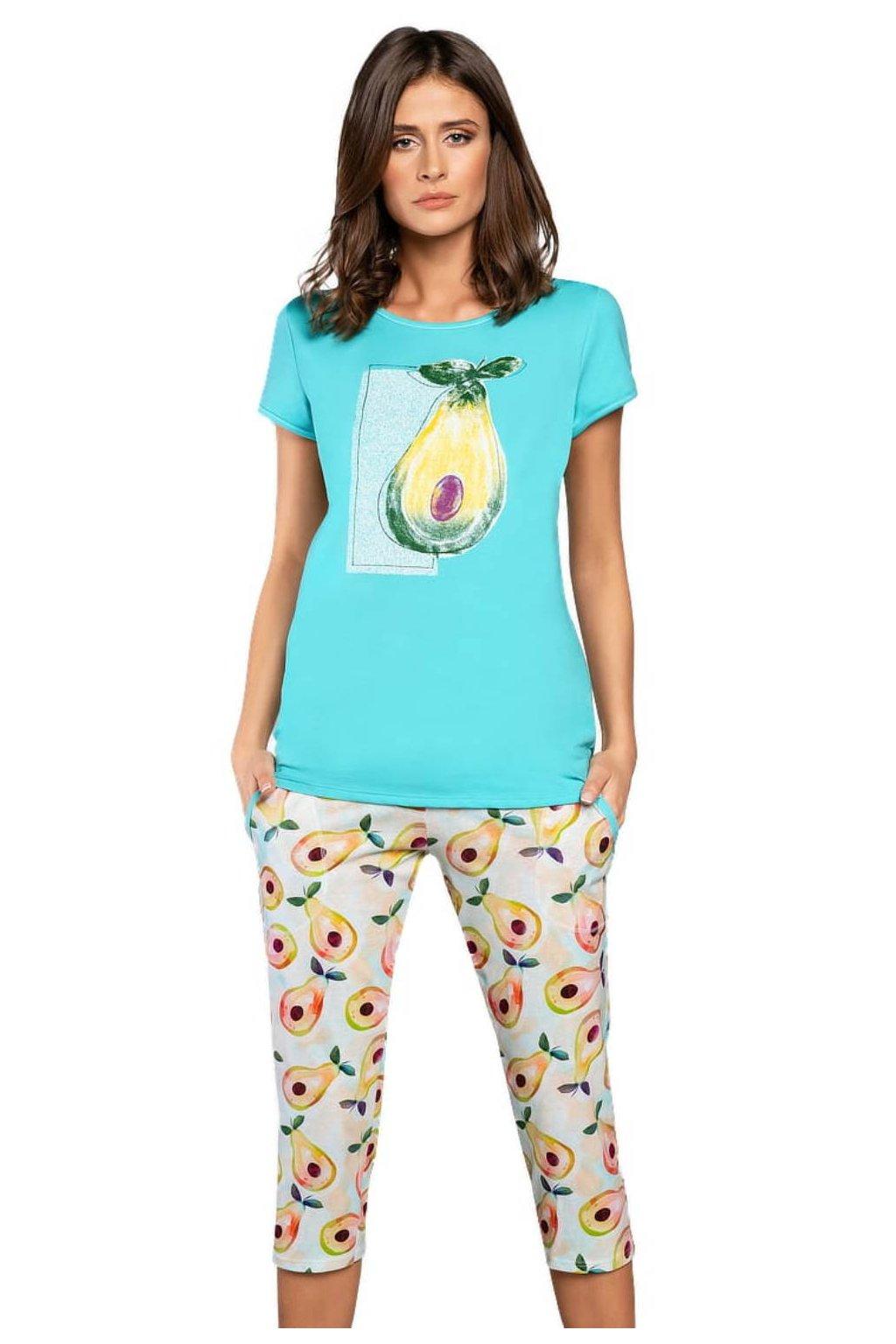 Dámské bavlněné pyžamo s krátkým rukávem Italian FashionAvocado