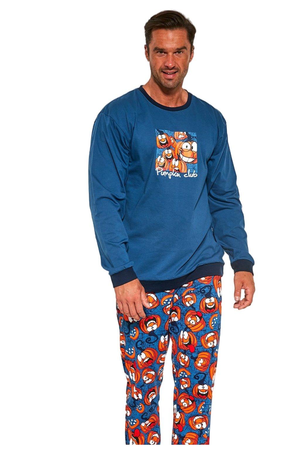 Pánské pyžamo s dlouhým rukávem Cornette 456/174 Pumpkin.