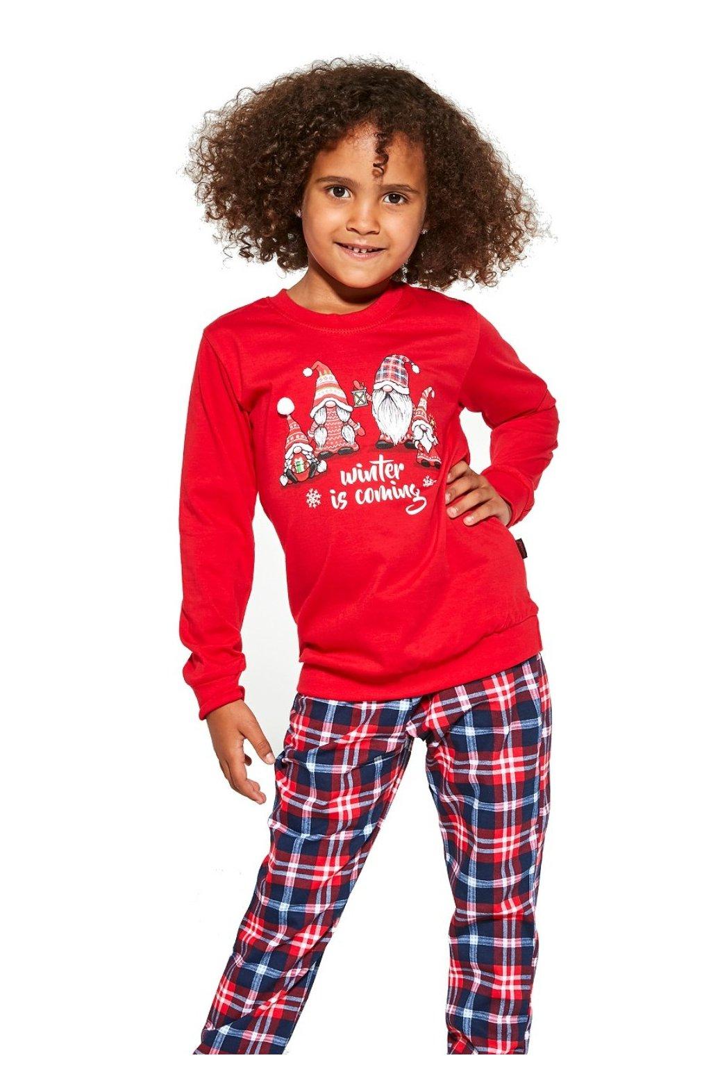 Dívčí pyžamo dlouhé Cornette 592-594/147  Gnomes