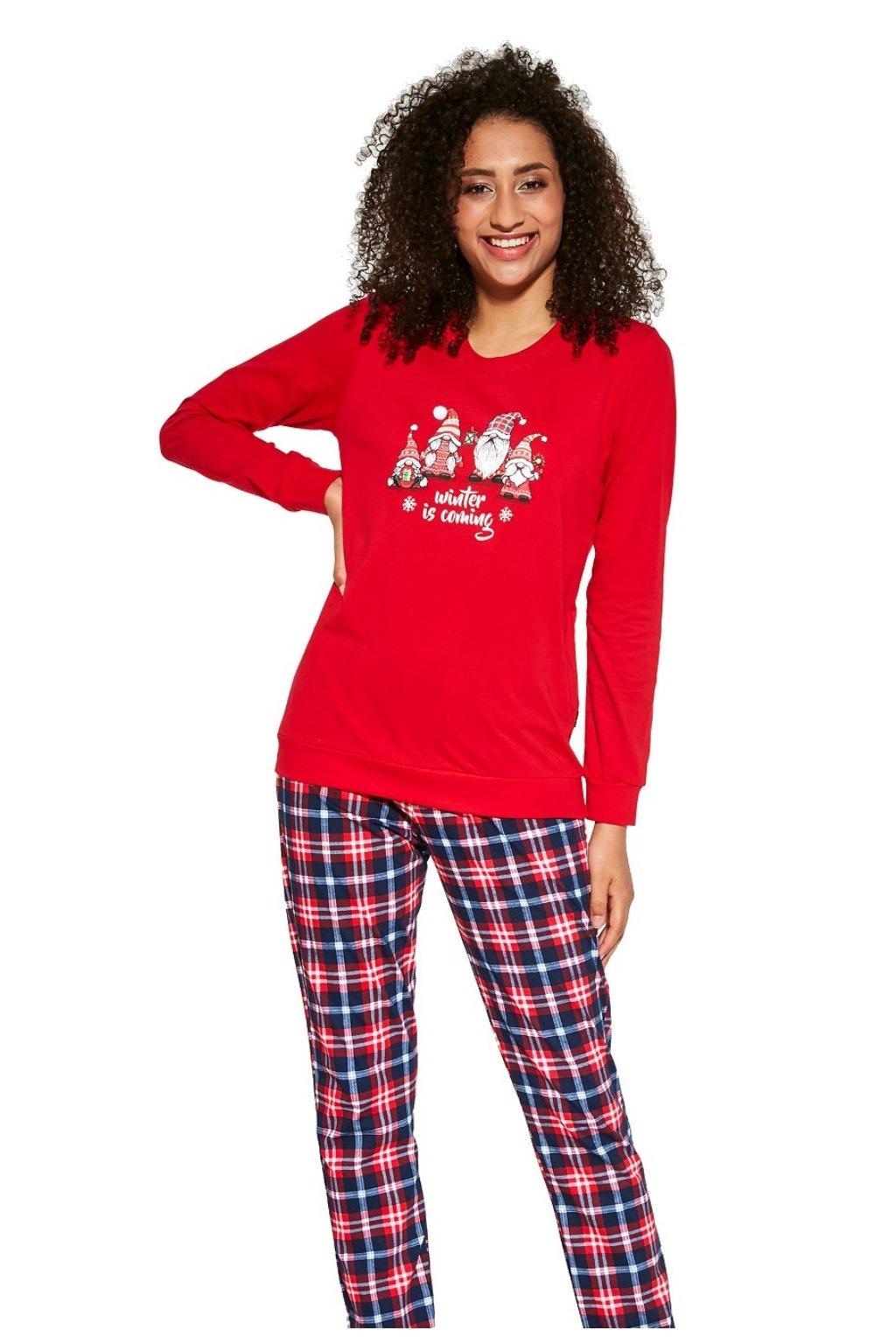 Dámské pyžamo s dlouhým rukávem Cornette 671/279 Gnomes.
