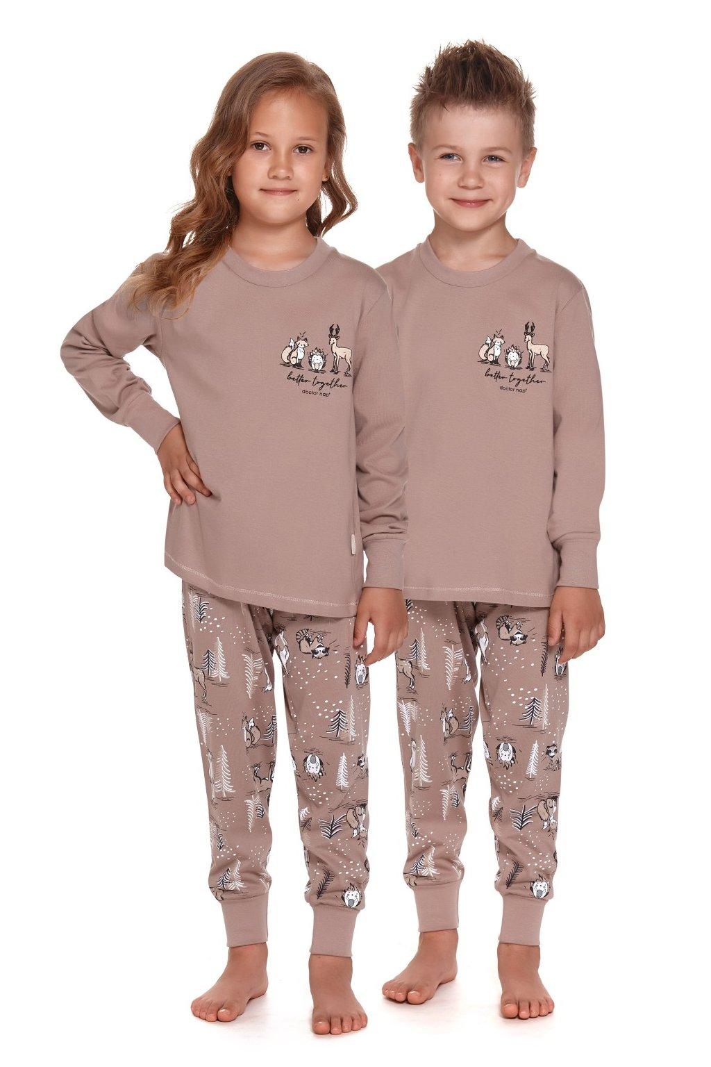 Dětské pyžamo dlouhé Doctor Nap 4324 beige