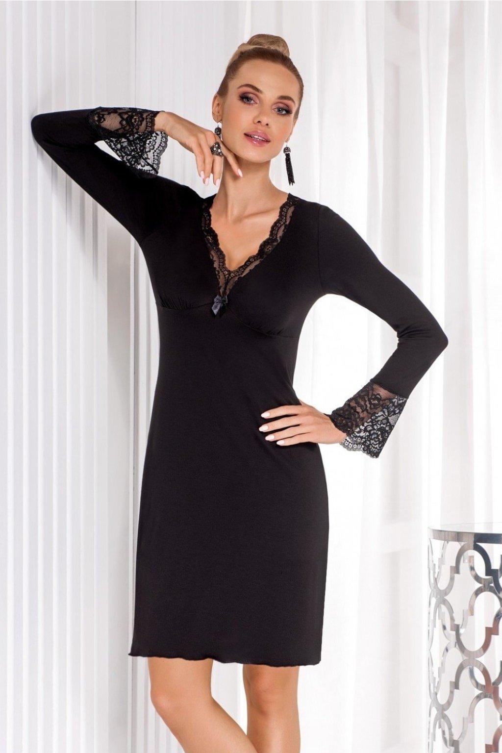 Dámská noční košile Donna Stella II Černá