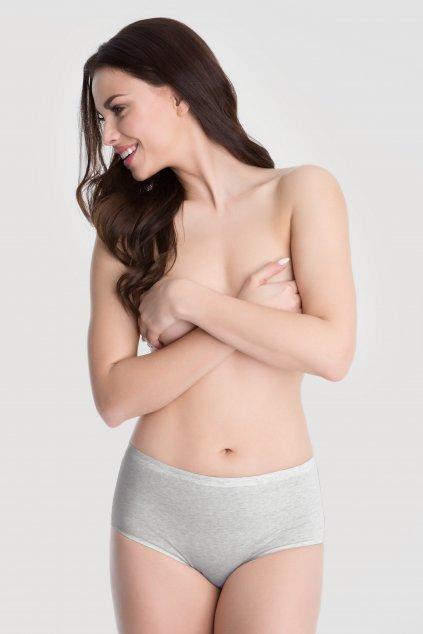 Kalhotky Julimex Midi Cotton šedá